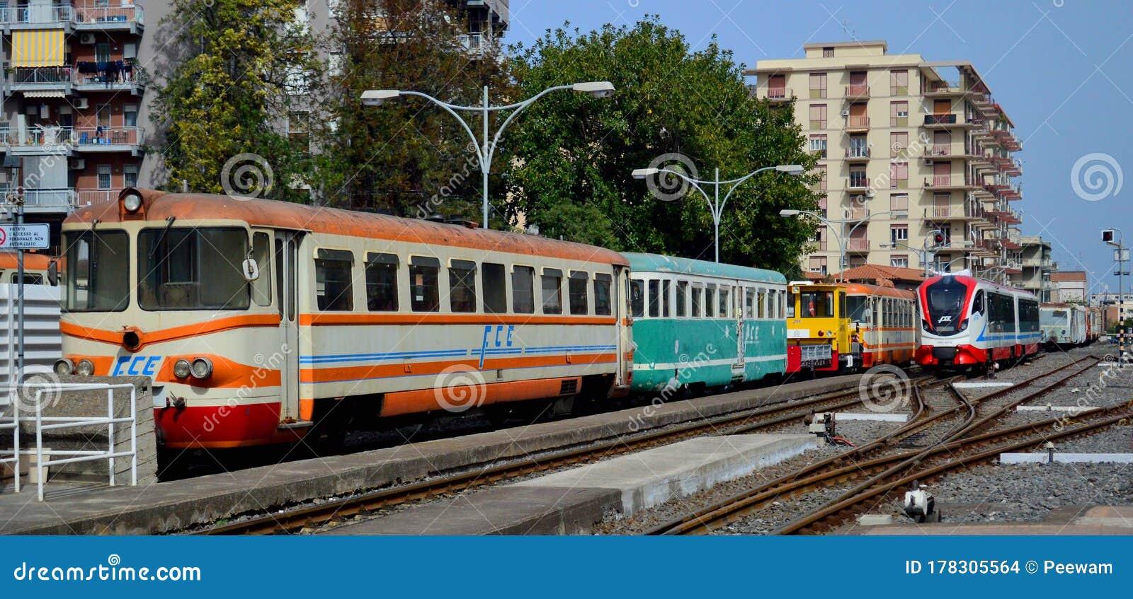 Ferrovia Circumetnea Old And New Engines At Catania Borgo ...