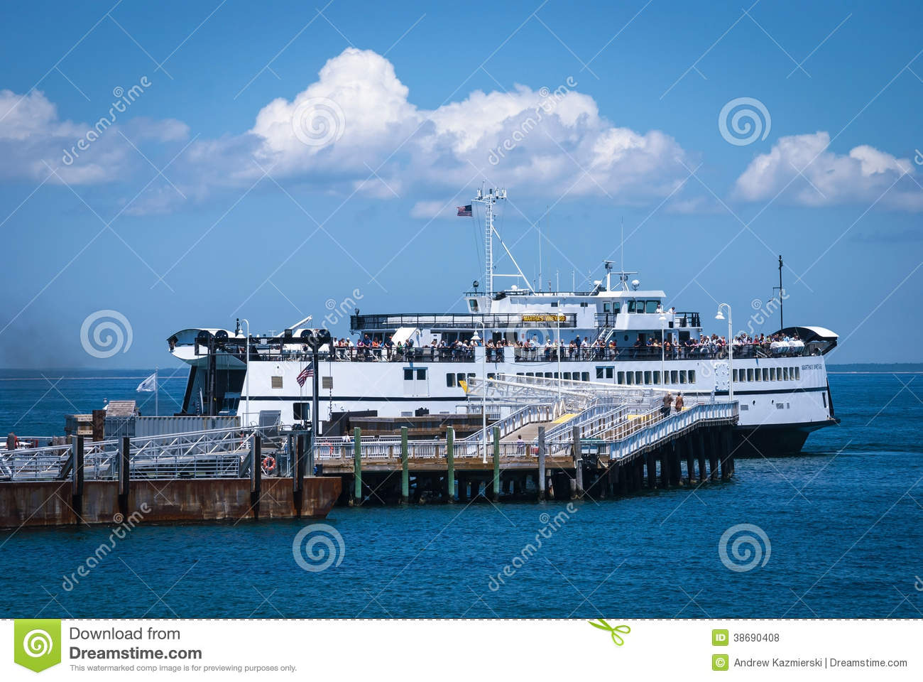 ferry arrival martha's vineyard editorial stock photo - image of