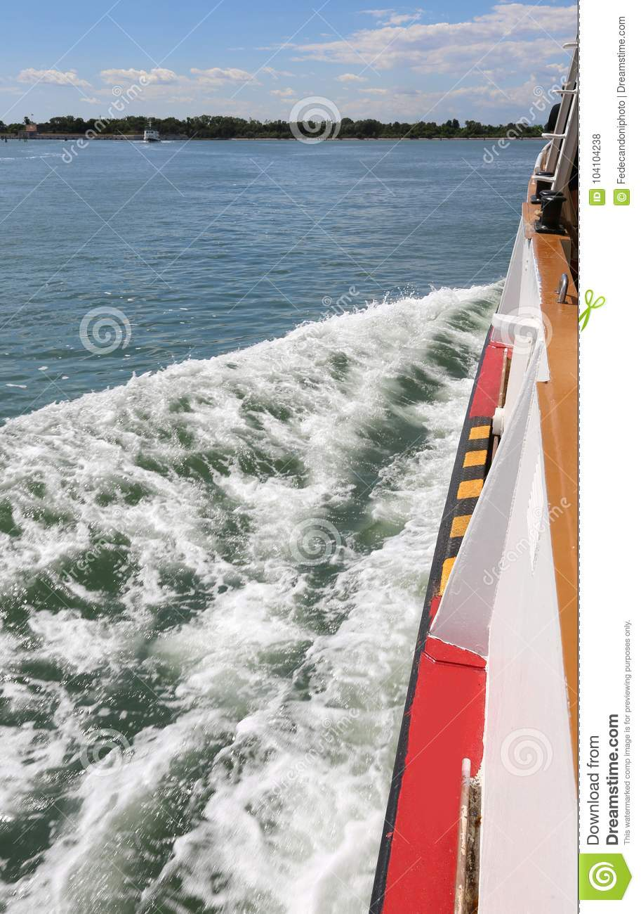 Ferry Boat also called Vaporetto in italian language during the