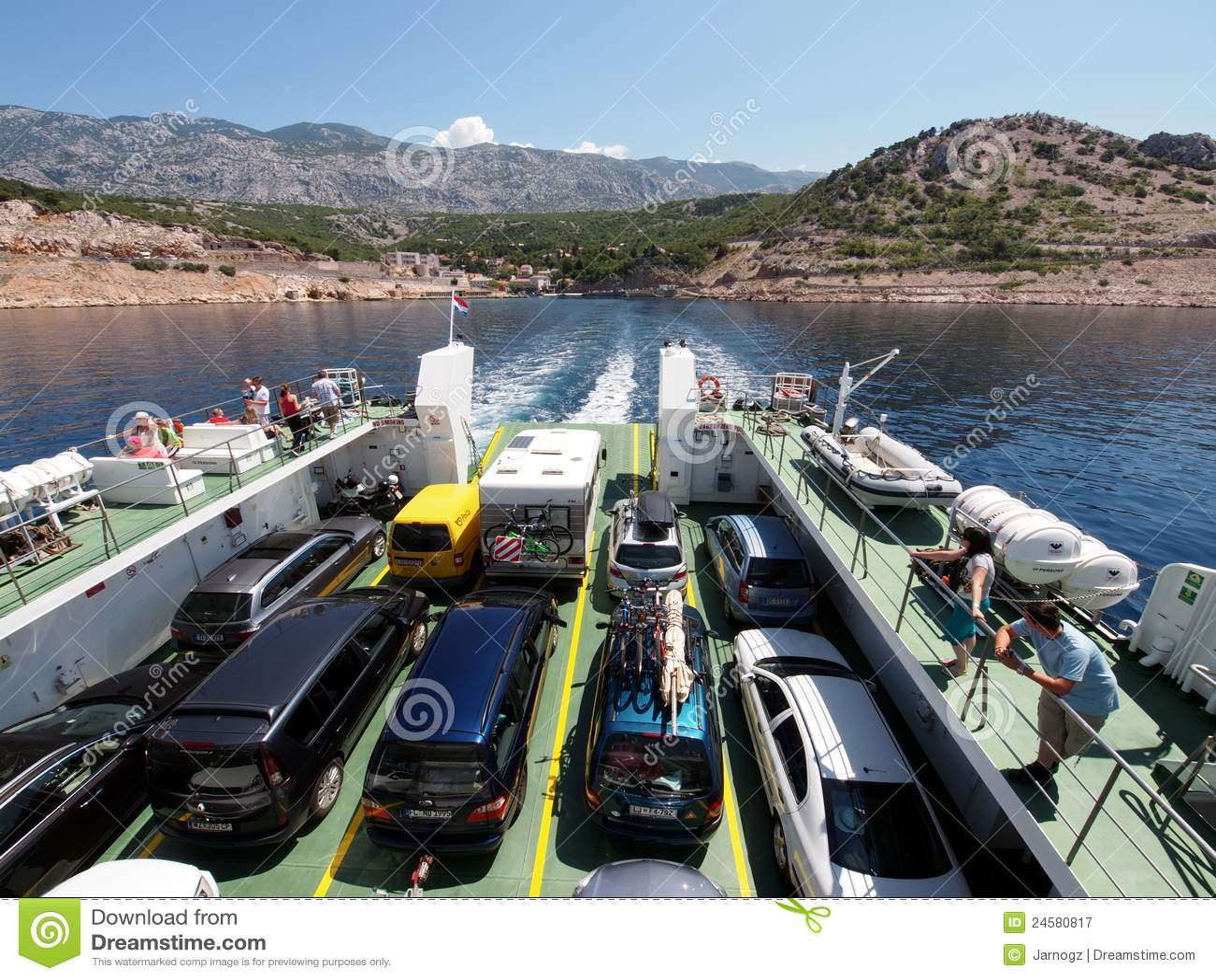 Ferry boat to Rab, Croatia