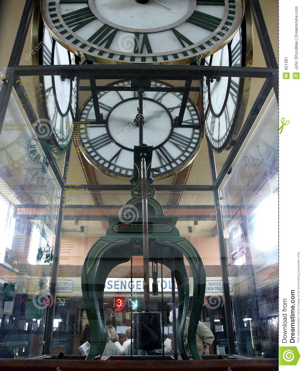 Download Ferry Clock stock image. Image of antique, seattle, island - 451391
