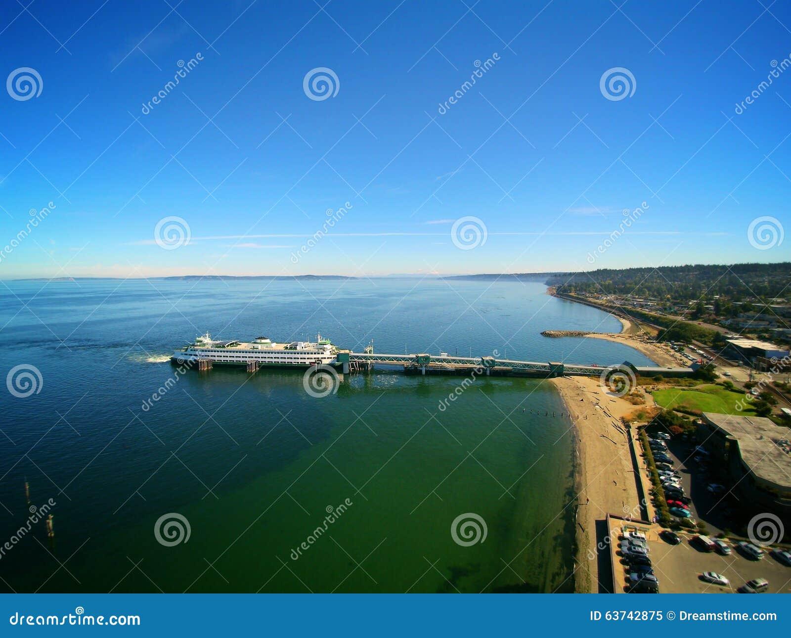 Ferry Docked in Edmonds Washington