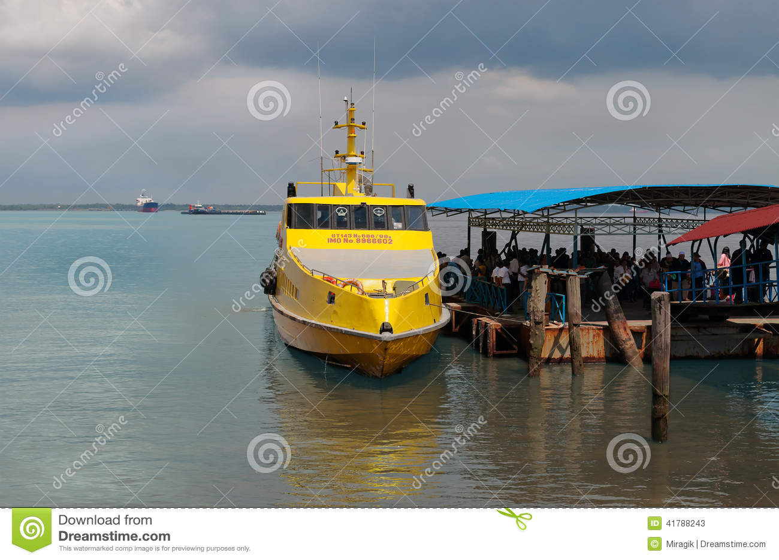 Dumai Indonesia  city photos gallery : DUMAI, INDONESIA DEC 21, 2013: Ferry Melaka Dumai in Dumai Port ...