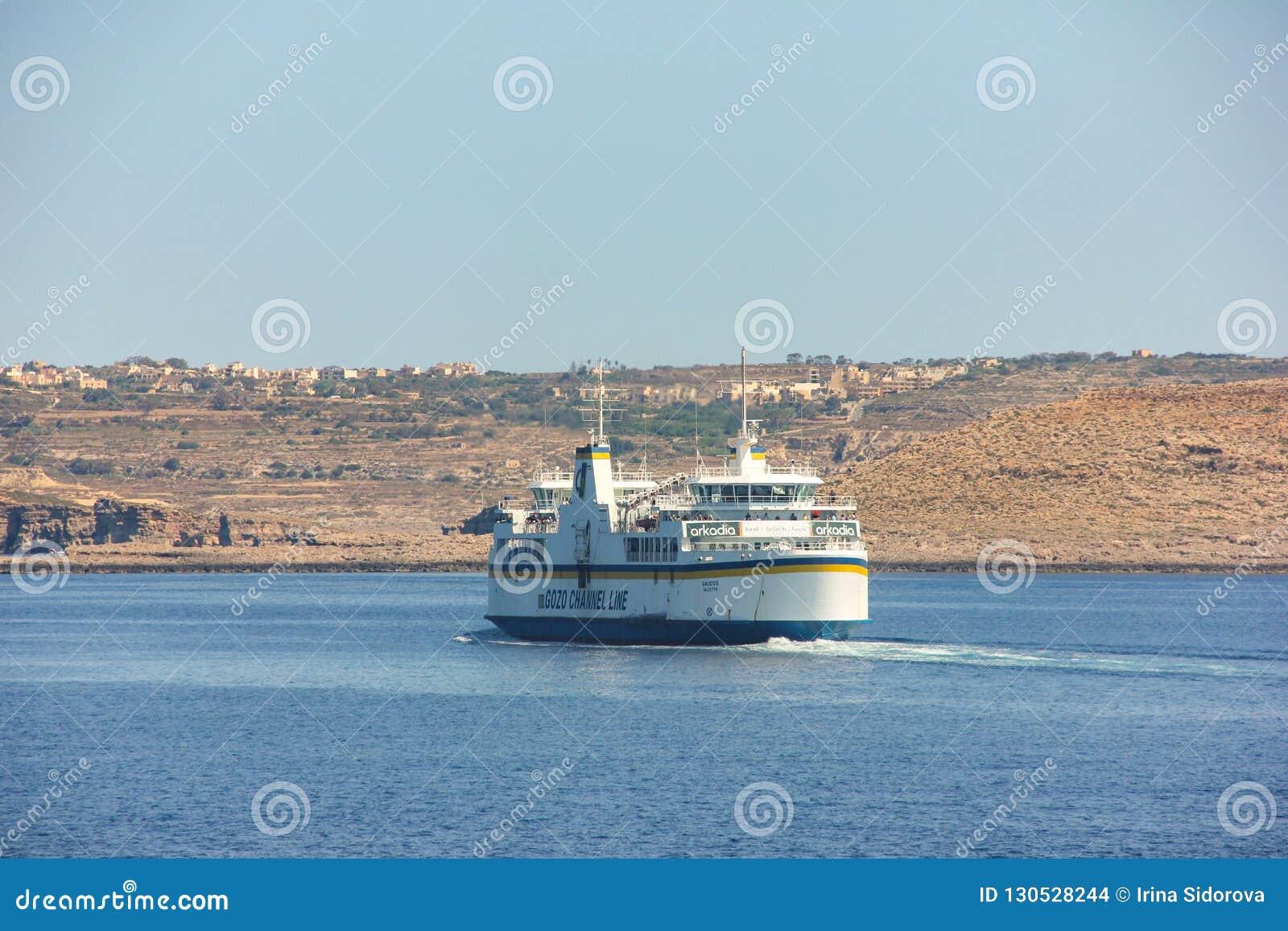 Ferry moves to Cirkewwa Ferry Terminal