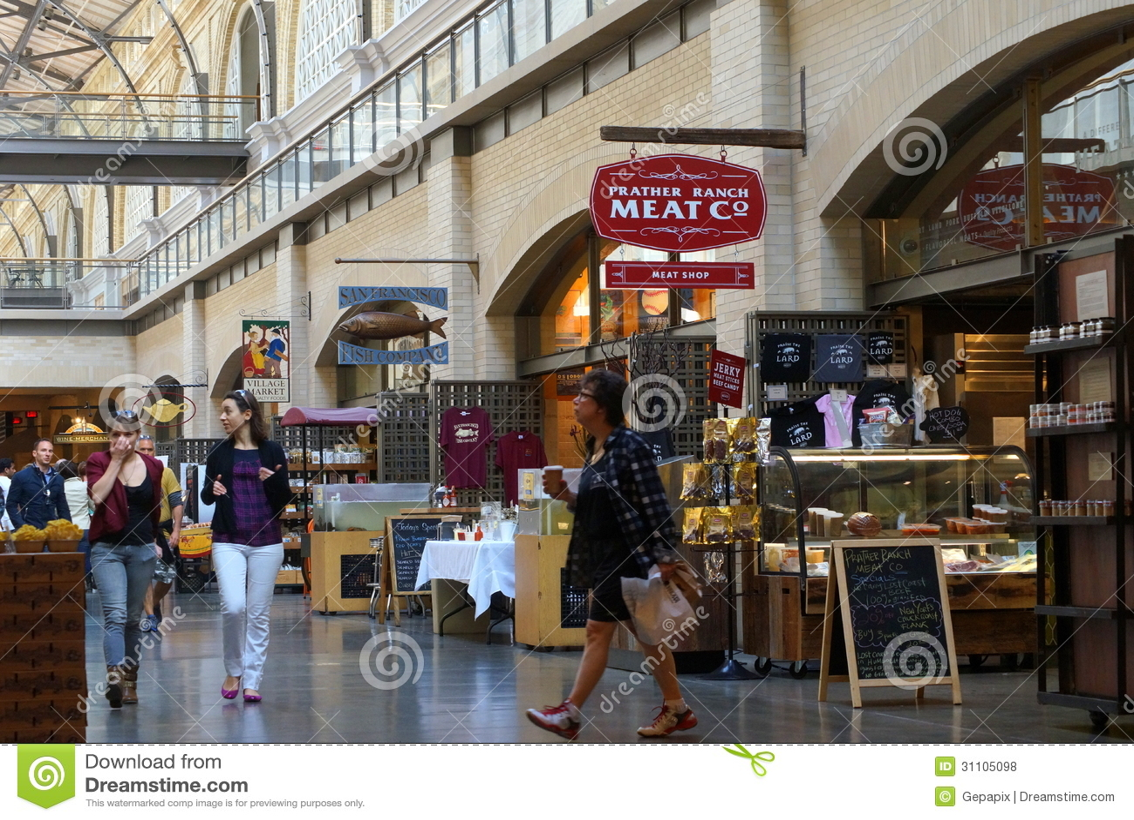 Ferry plaza farmer 39 s market editorial stock photo image for San francisco fish market