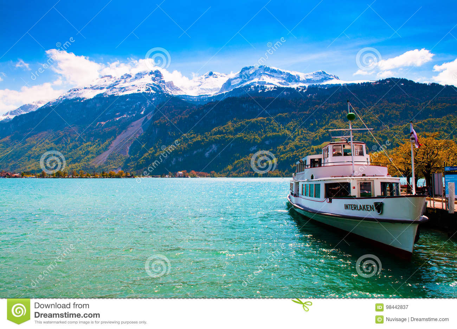 Ferry Ship in Lake Brienz
