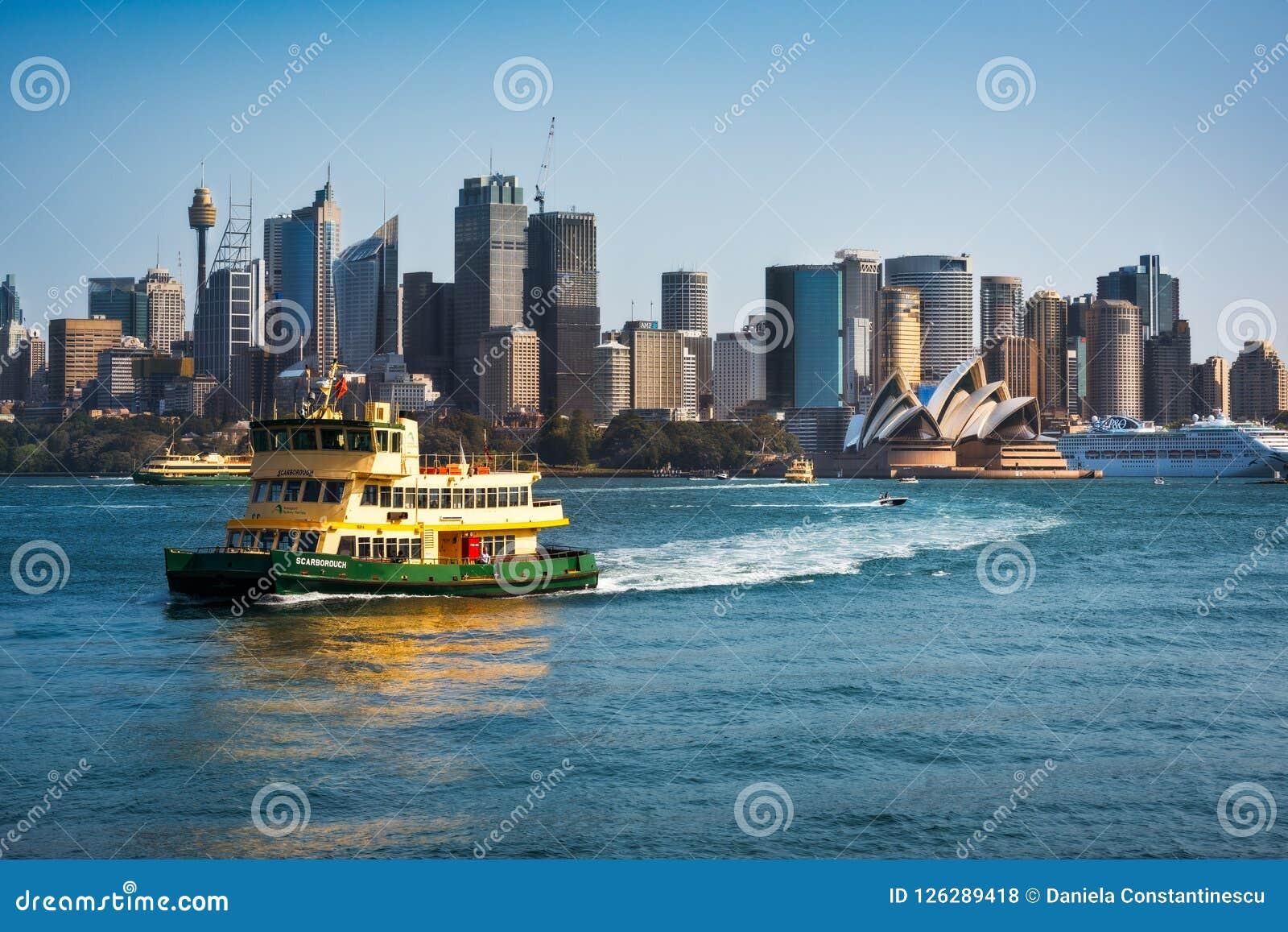 A Ferryboat in Sydney Harbour, Australia.