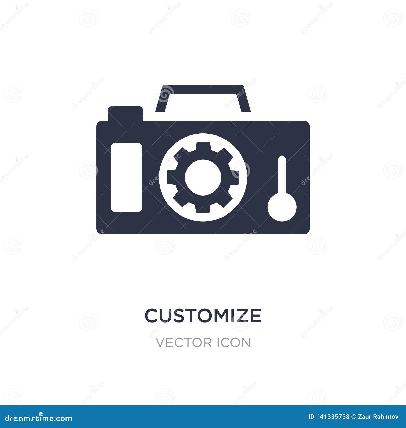 Fertigen Sie Ikone auf weißem Hintergrund besonders an Einfache Elementillustration vom Technologiekonzept
