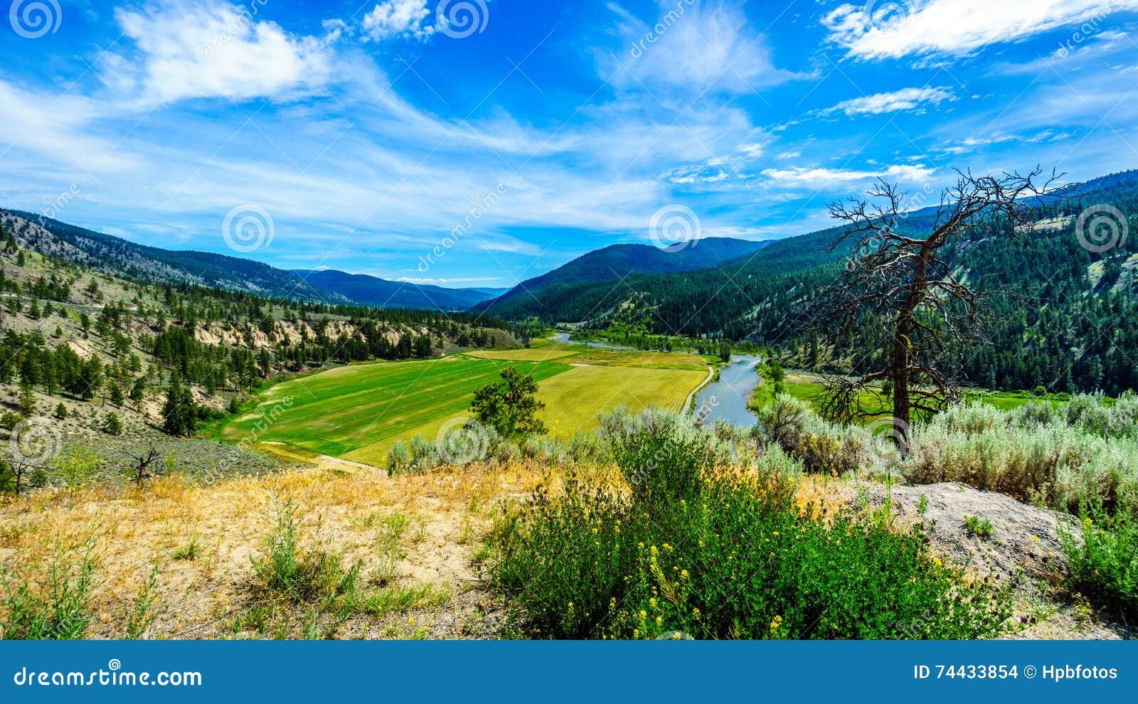 Fertile Farmland along the Nicola River between Merritt and Spences Bridge in British Columbia