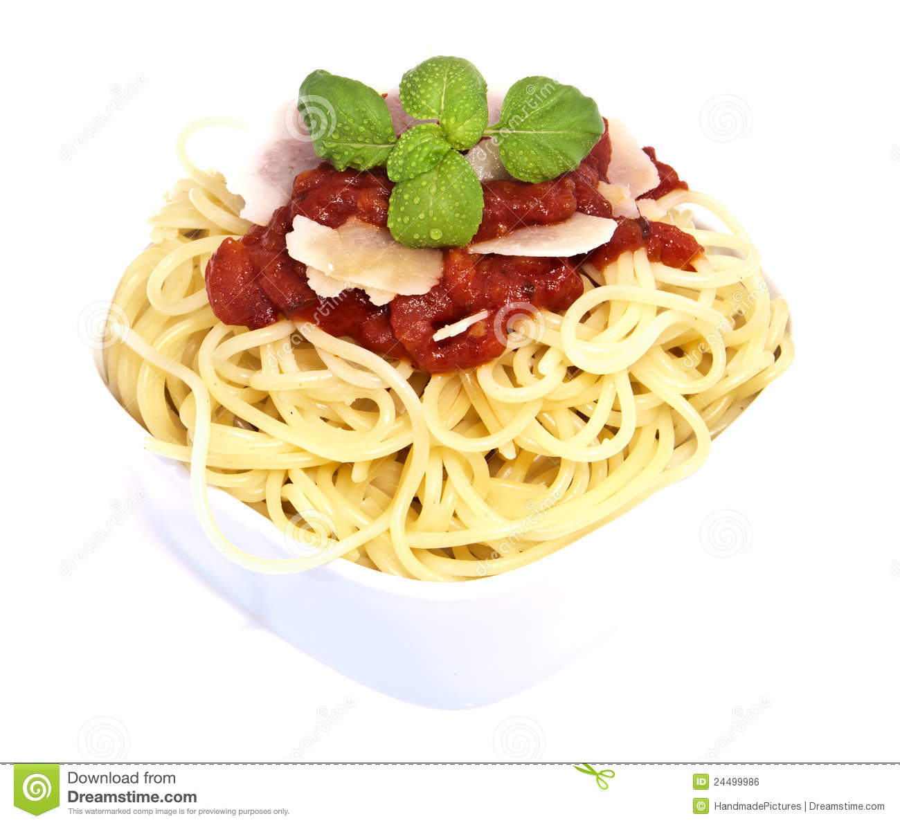 Fesh Spaghetti With Tomato Sauce And Parmesan Royalty Free Stock Image ...