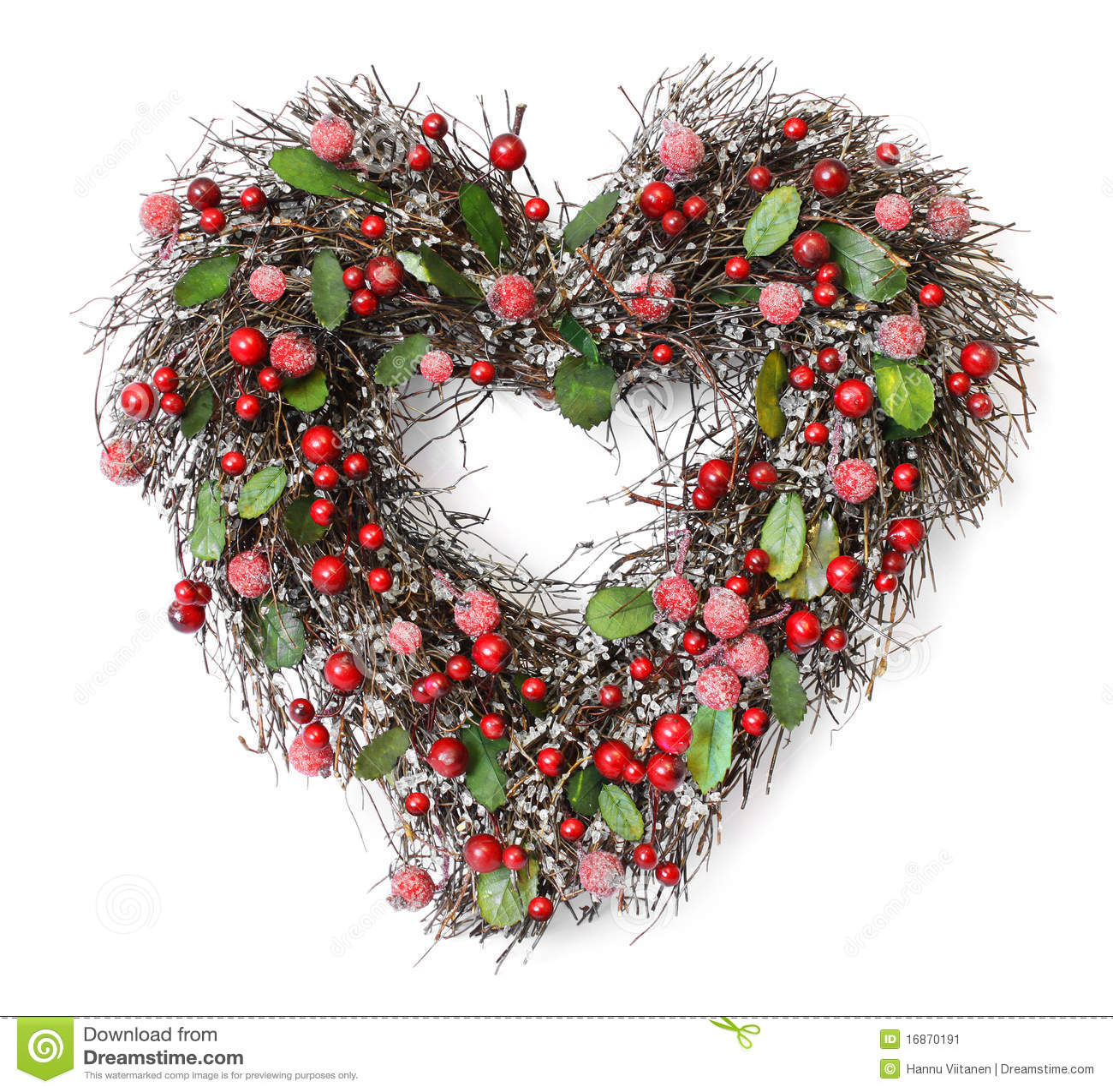 Festão dada forma coração do Natal