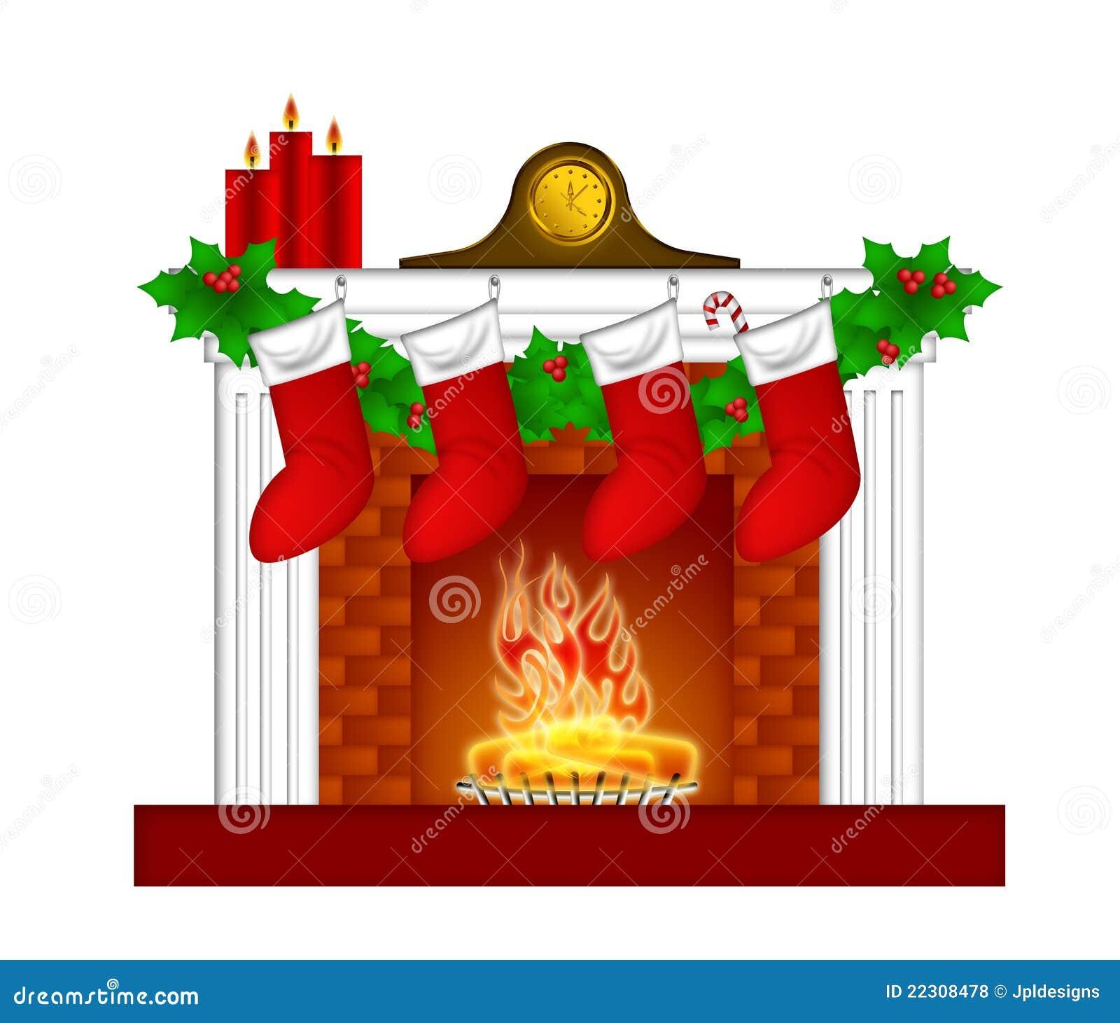 Christmas mantel decorations - Fest 227 O Das Meias Das Decora 231 245 Es Do Natal Da Chamin 233 Fotos De Stock