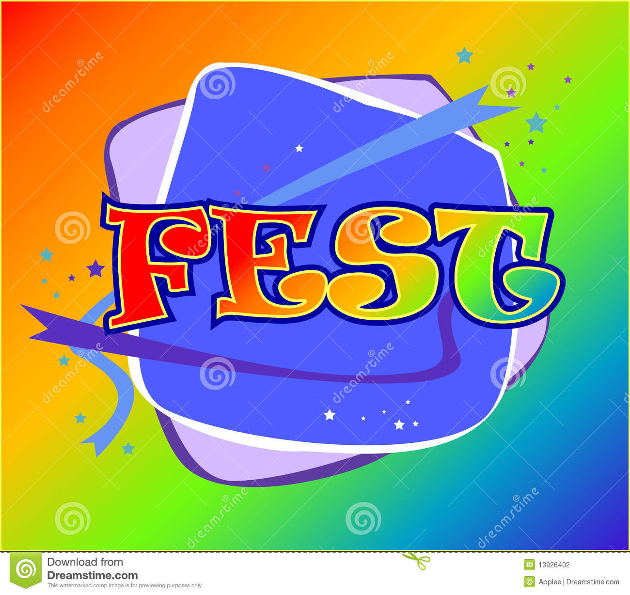 fest logo stock vector  image of template  clip  font