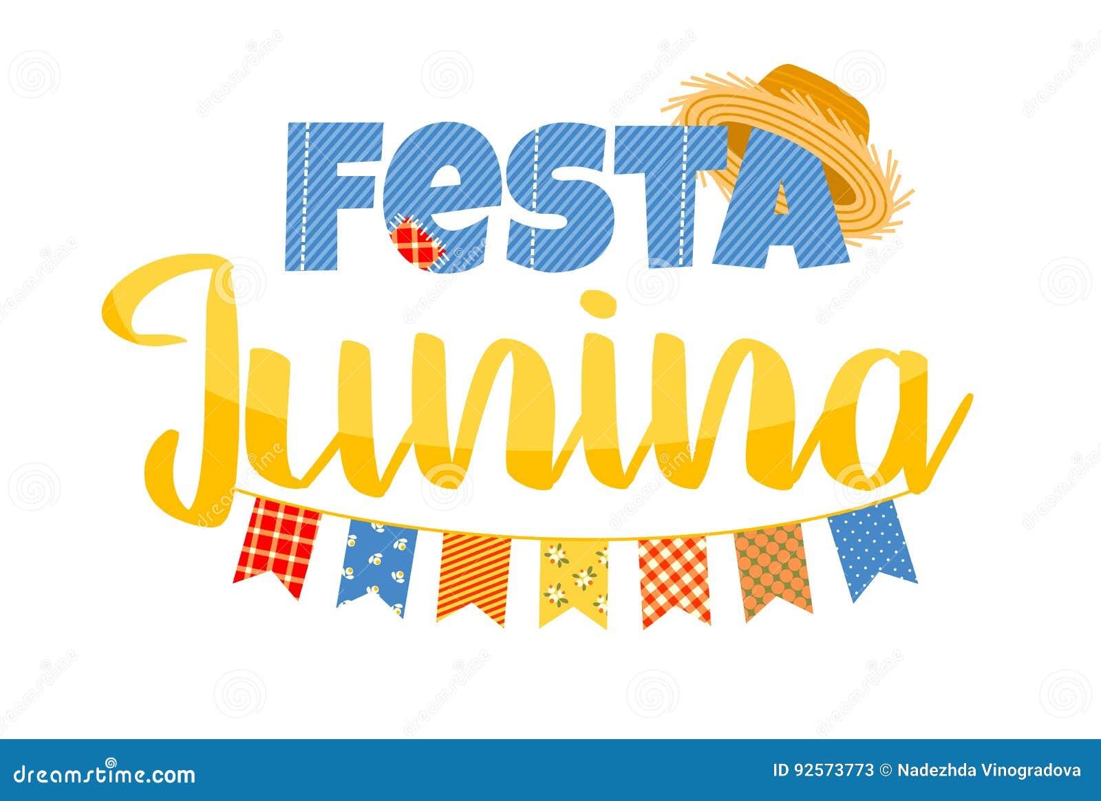 Festa dell America latina, il partito di giugno del Brasile Progettazione di iscrizione