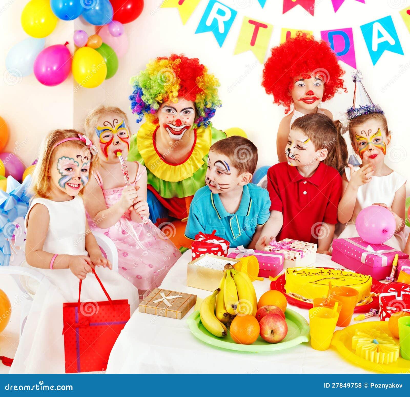Festa di compleanno del bambino.