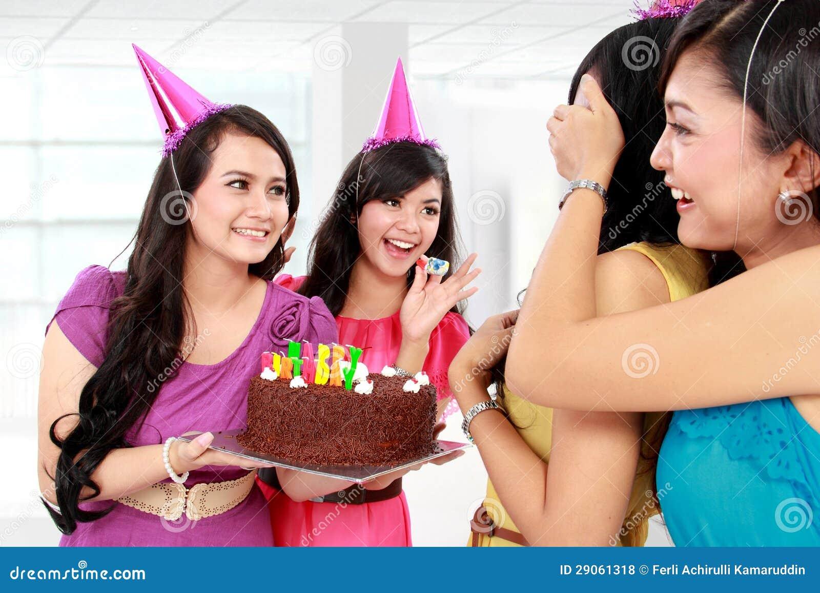 Festa Di Compleanno Di Sorpresa Fotografia Stock   Immagine di