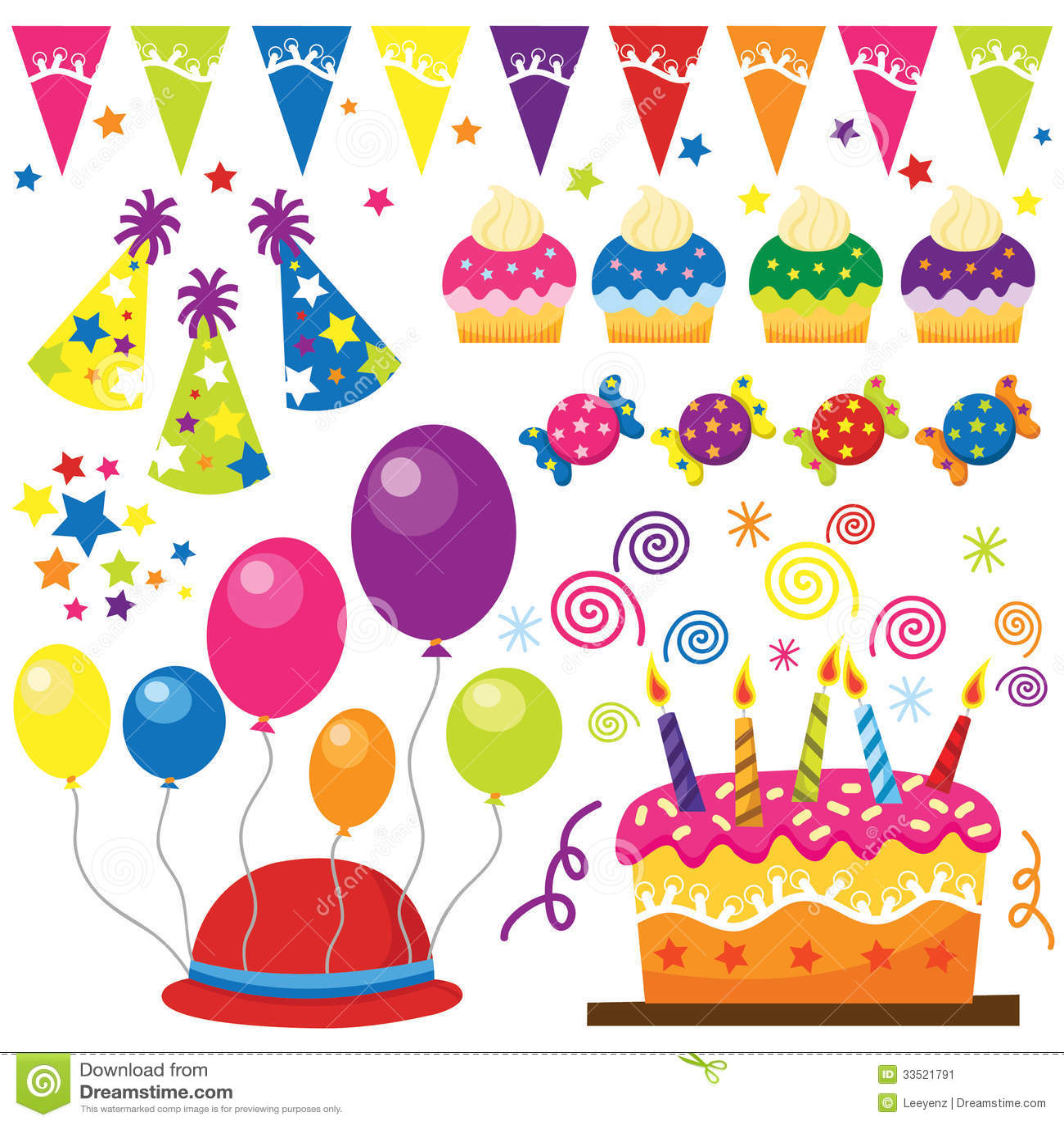 Super Festa Di Compleanno Di Sorpresa Illustrazione Vettoriale  YF11