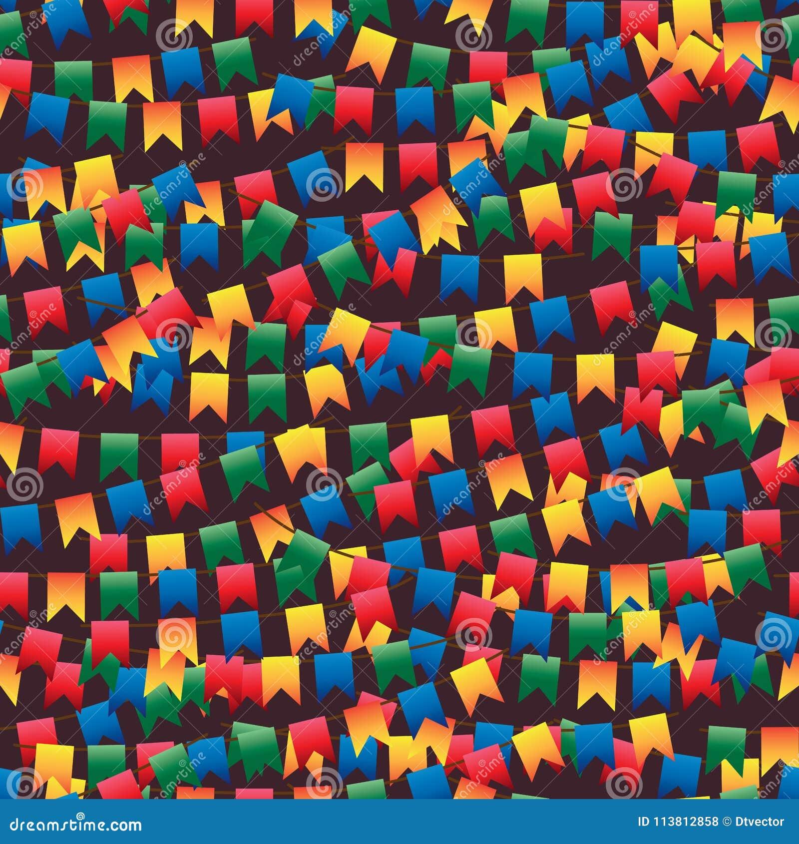Festa Junina markeert velen naadloos patroon
