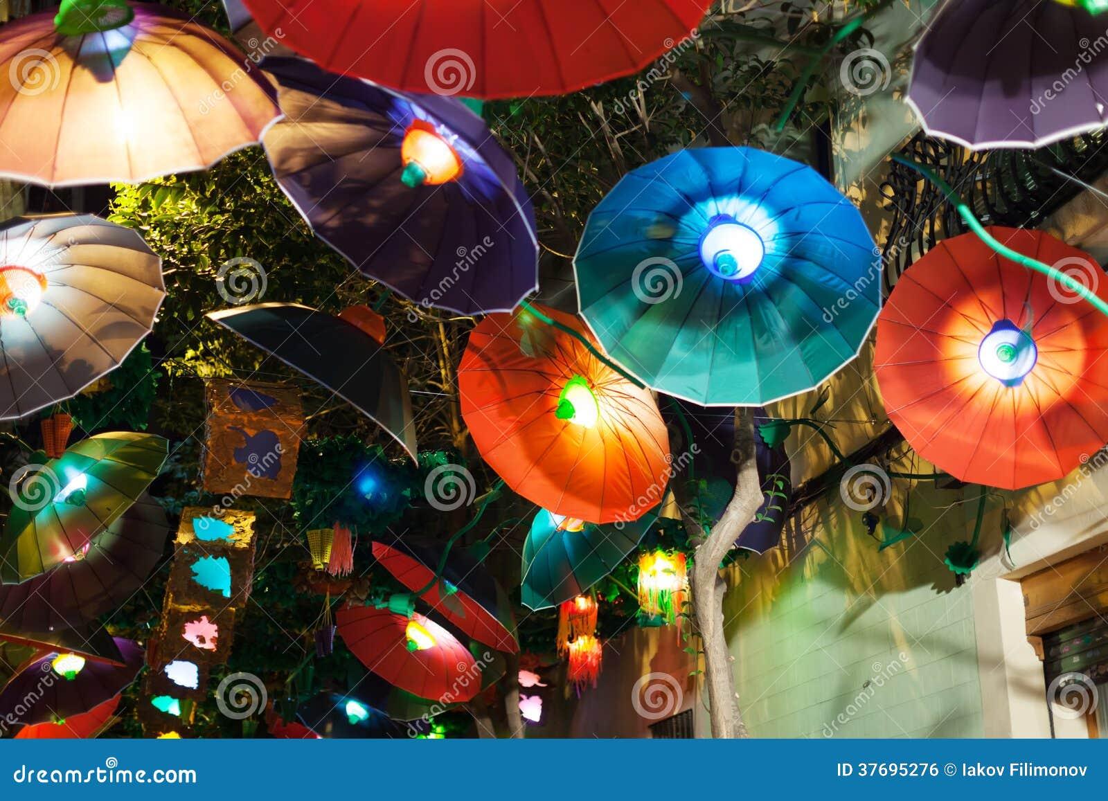 Festa Major de Gracia i natt i Barcelona