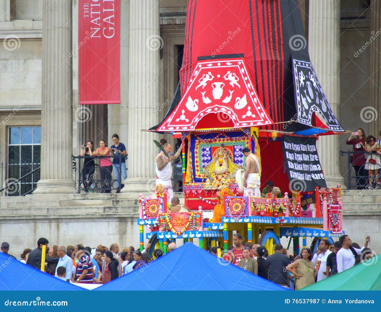 Festin coloré Londres de Krishna