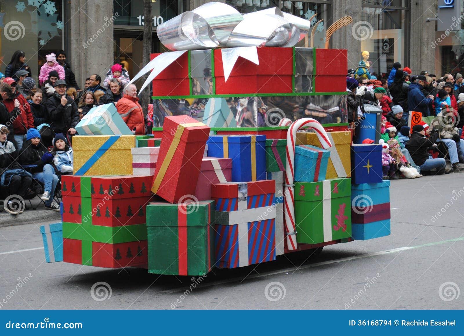 Festival av santa som är clous i montreal