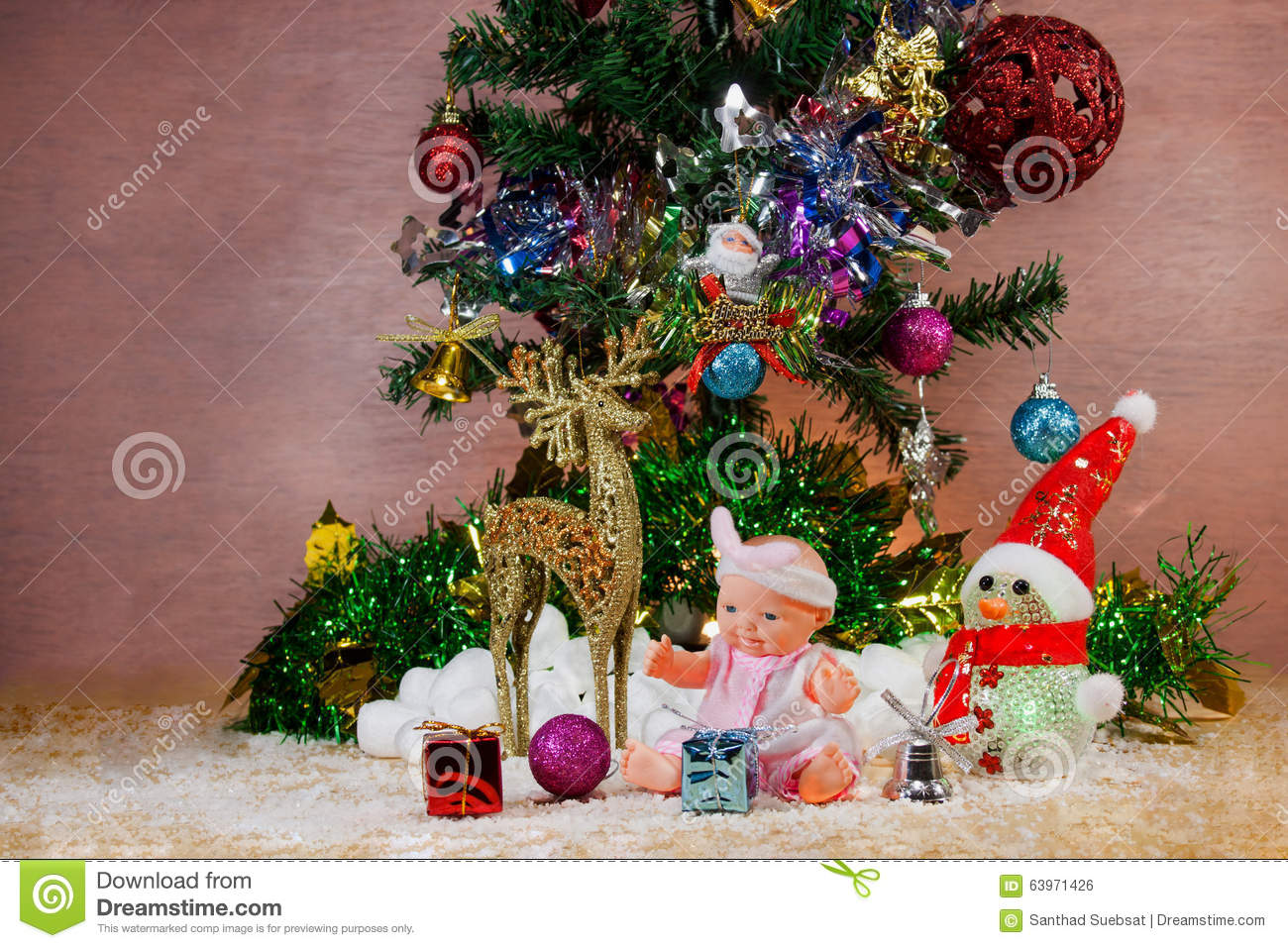 Festival Christmas And New Year Greeting Cards Stock Photo 63971426