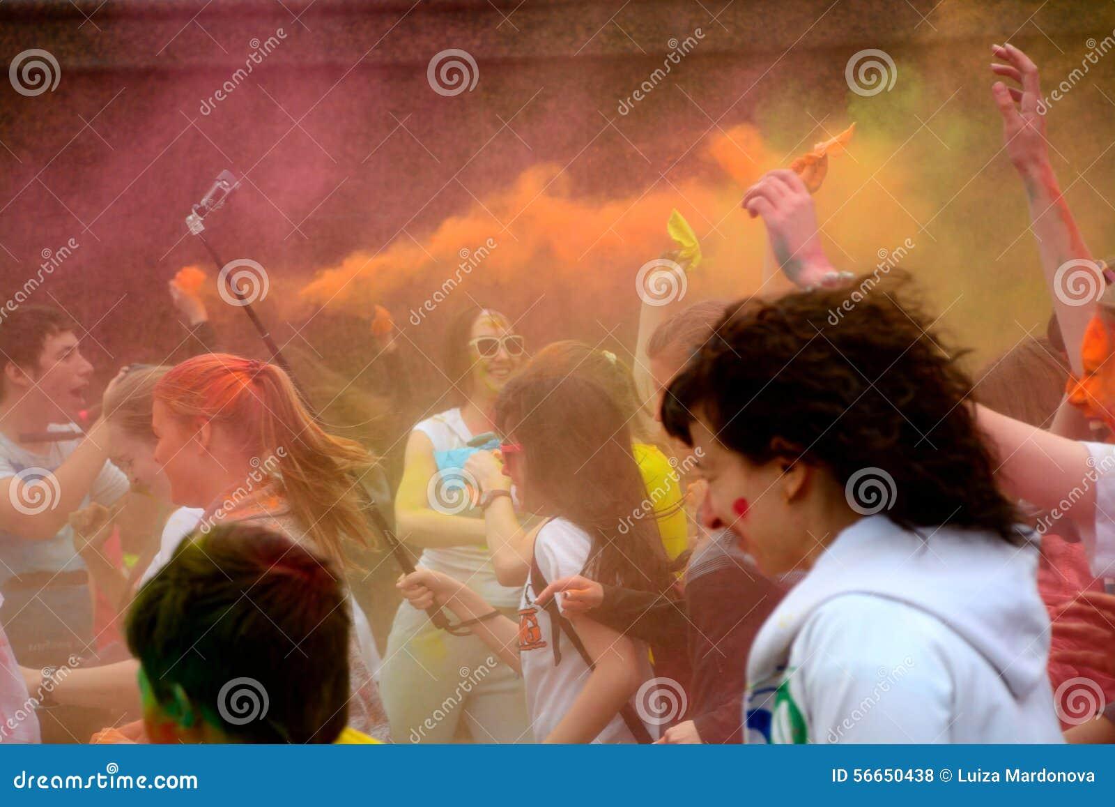Festival de Holi en Rusia