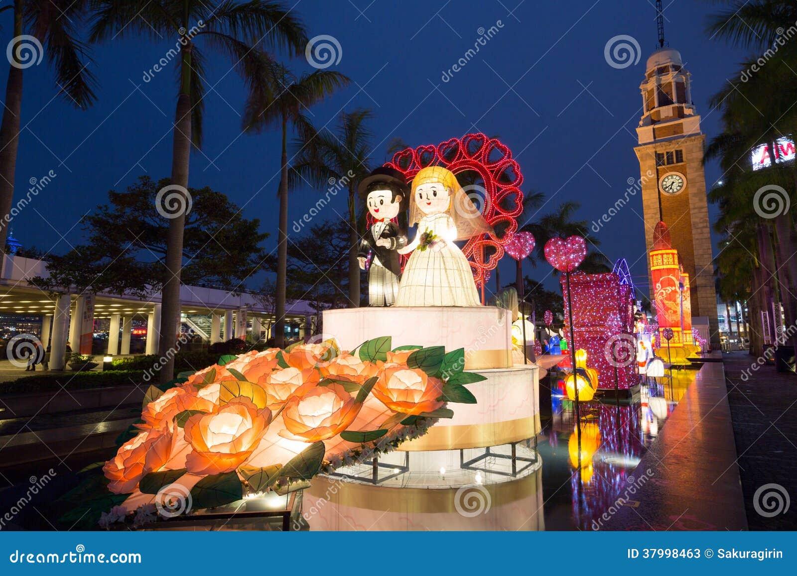 festival de linterna de la primavera en hong kong foto de archivo editorial