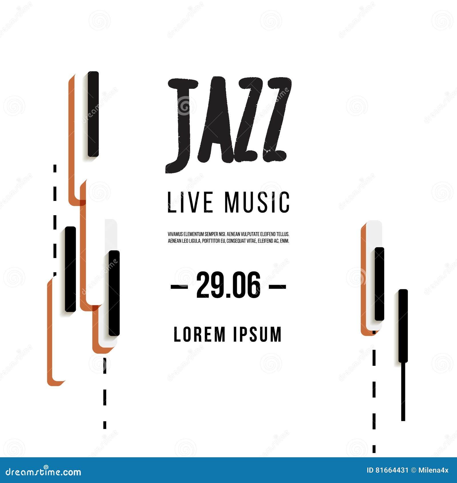 Festival De Música De Jazz, Plantilla Del Fondo Del Cartel Teclado ...