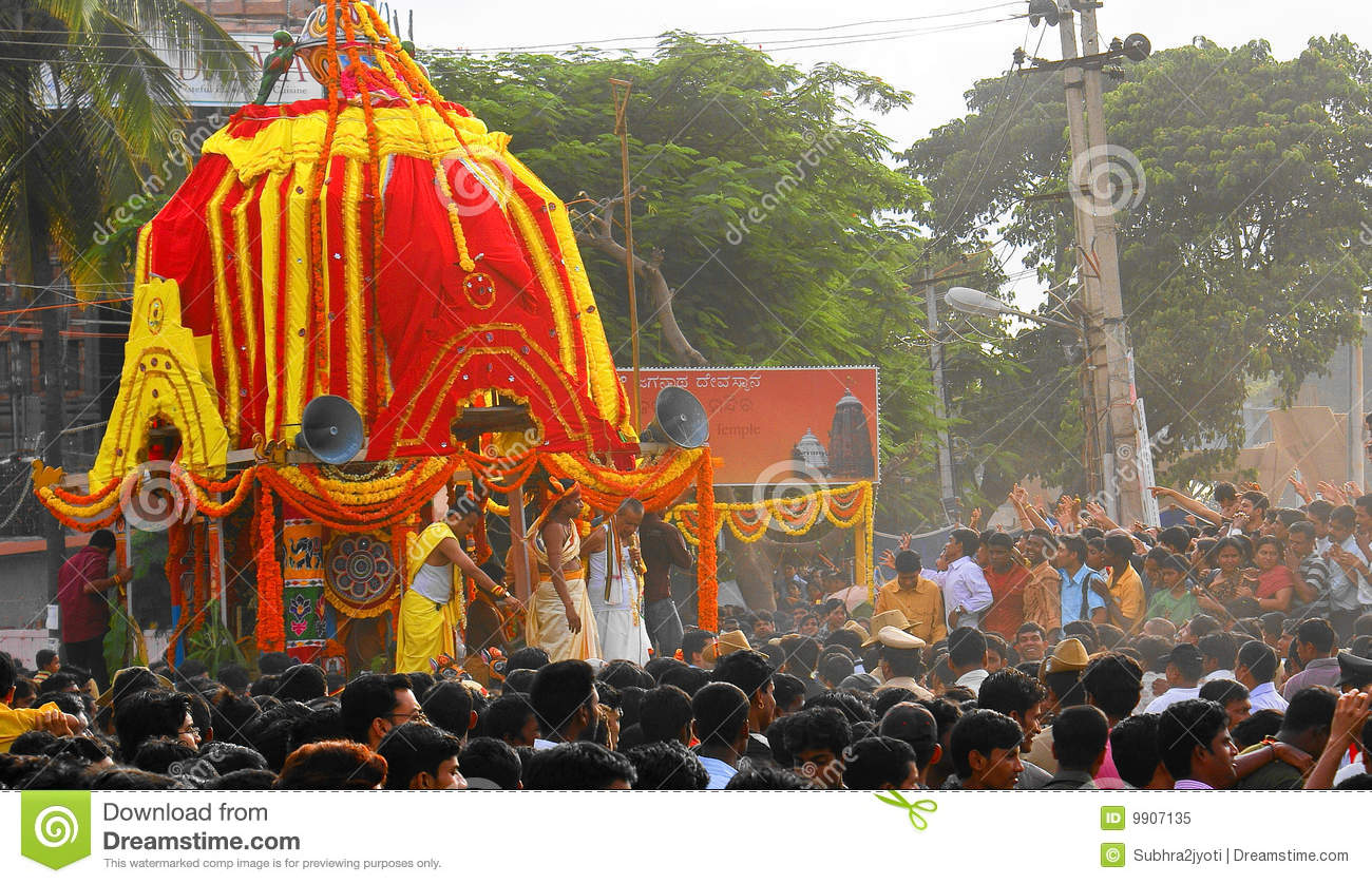 Festival dell Jagannat-Automobile in India