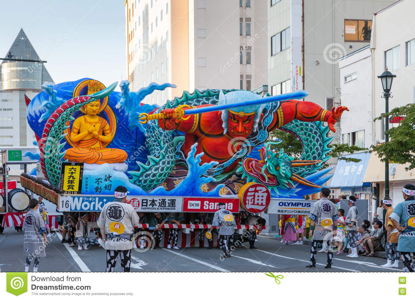 Festival di Aomori Nebuta (galleggiante delle lanterne) nel Giappone