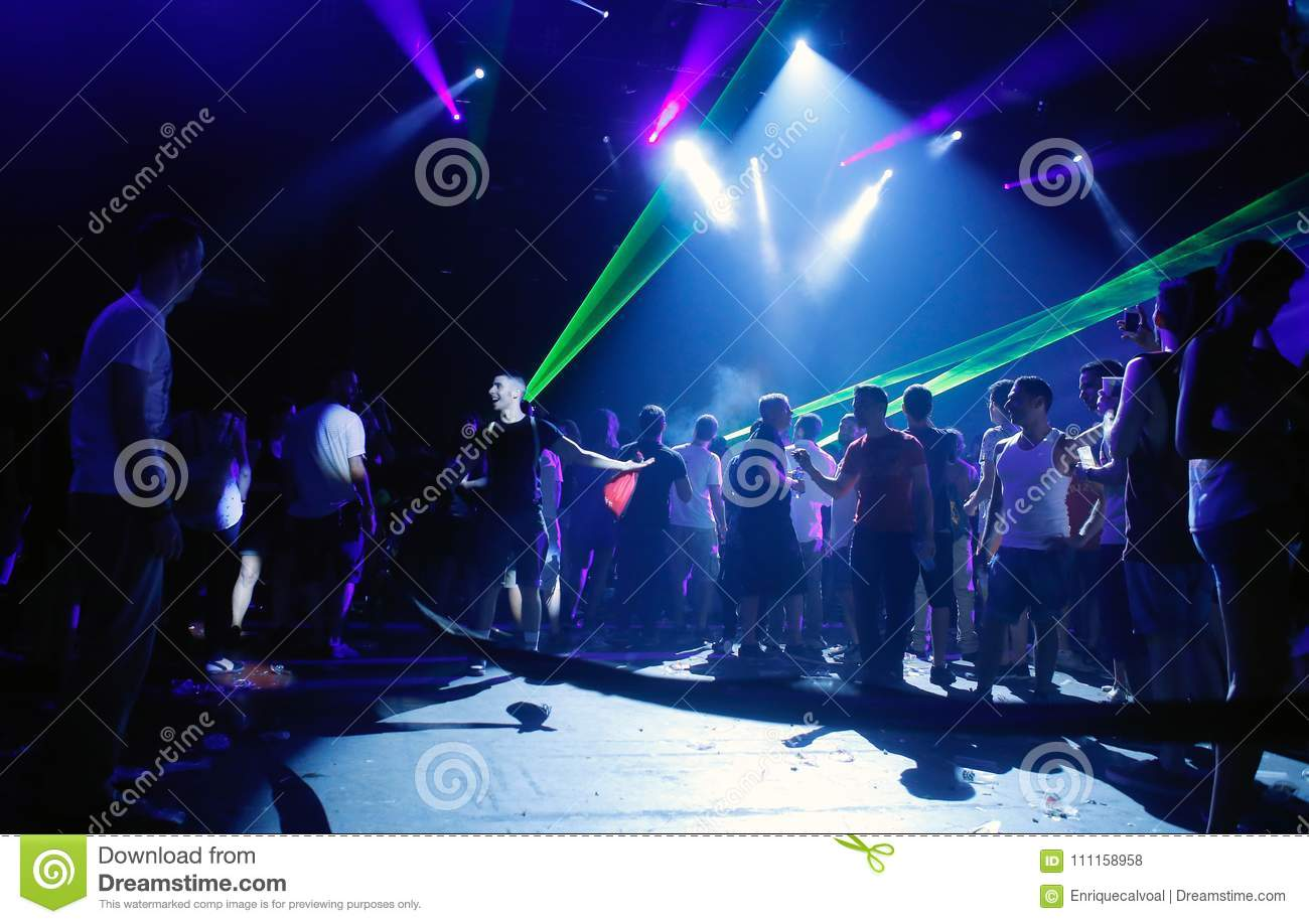 Young people enjoying music and Nightlife