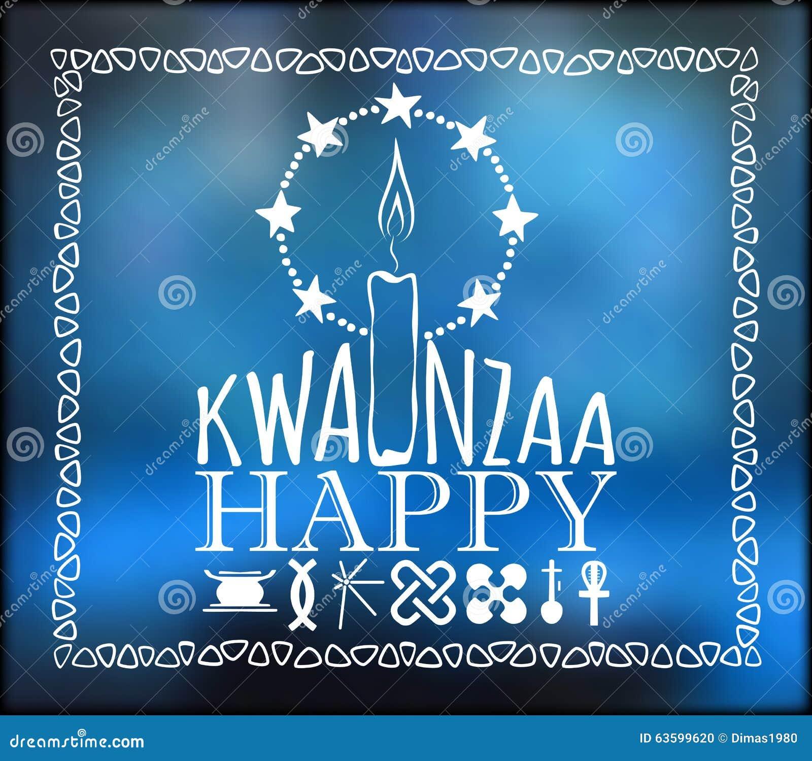 Festival Kwanzaa De kaart van de vakantie