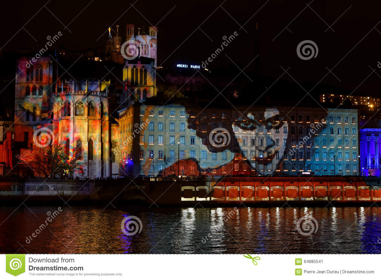 Festival Of Lights 2015 In Lyon Editorial Photo - Image of