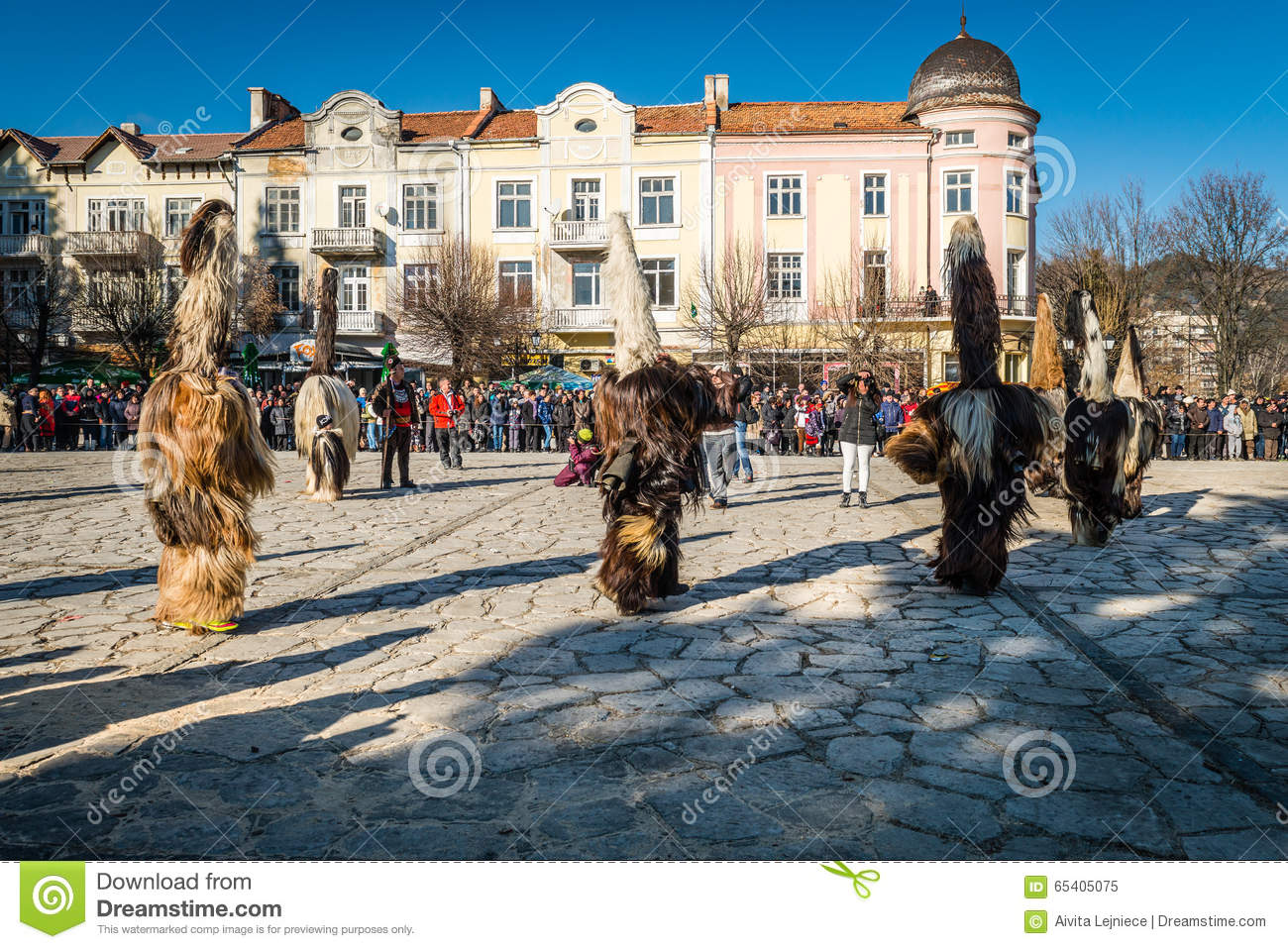 Razlog Bulgaria  city pictures gallery : Razlog, Bulgaria January 01, 2016: People in costumes are taking ...