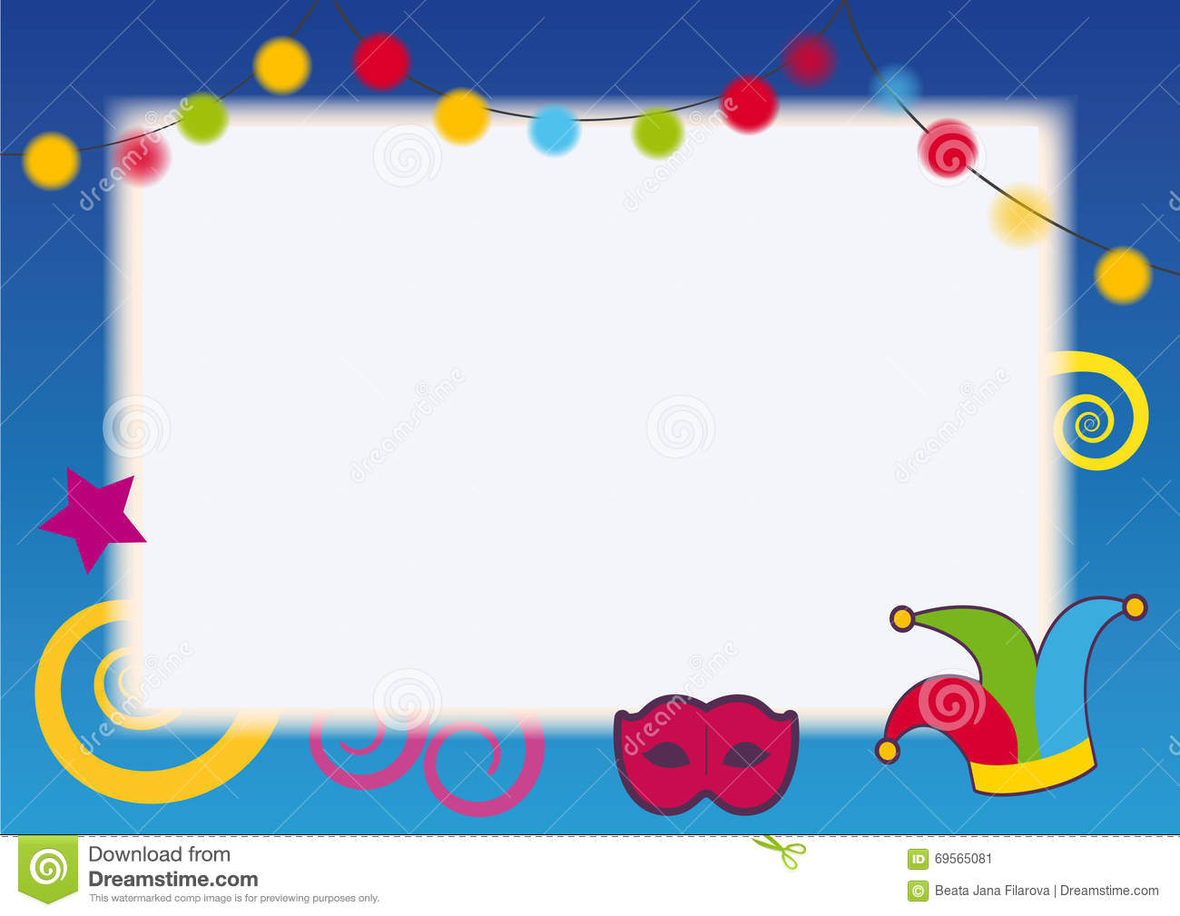 Festival party frame stock vector. Illustration of greeting - 69565081