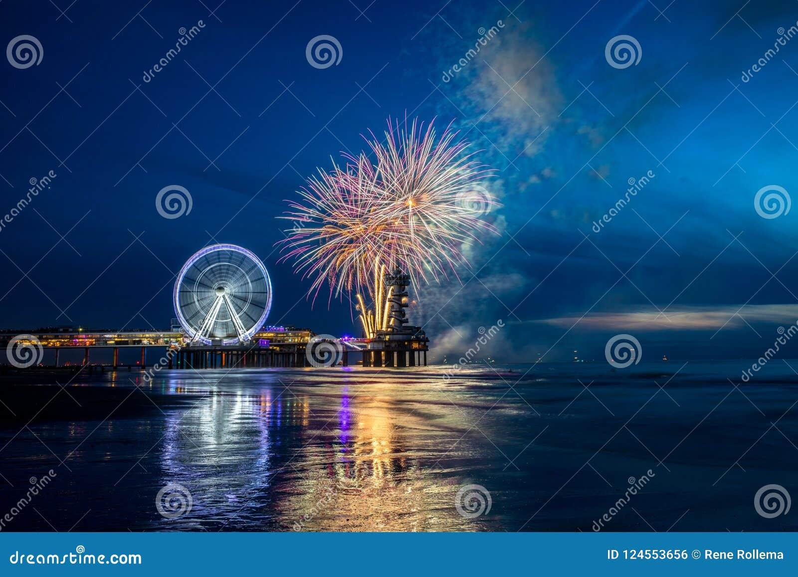 Festival Scheveningen dei fuochi d artificio