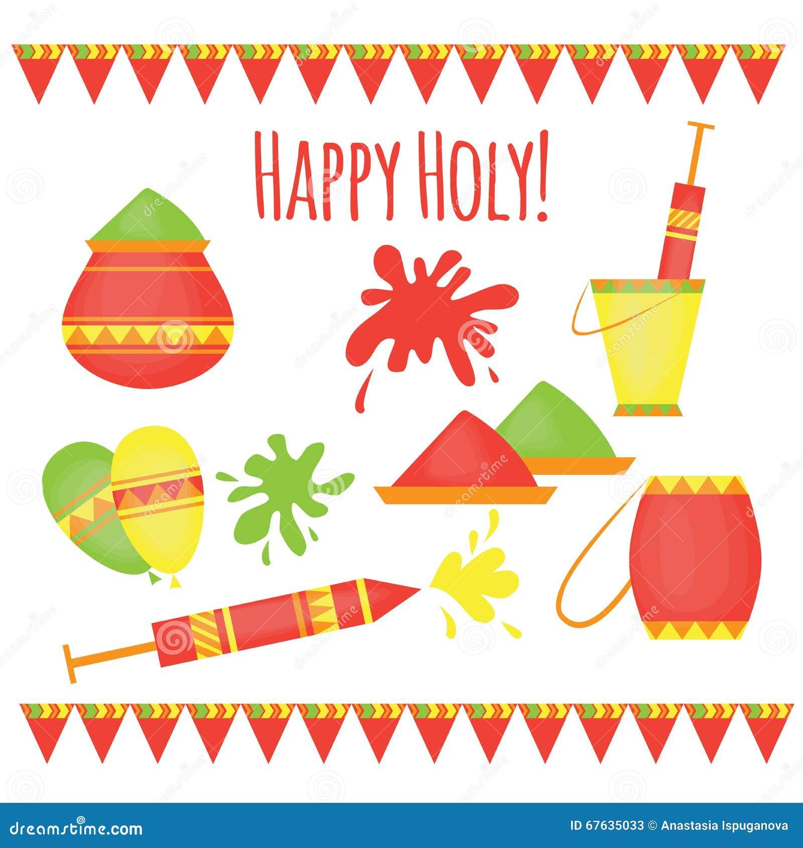 Festival tradicional de Holi del indio de los colores, elementos del diseño en el estilo indio, celebración colorida del hinduism