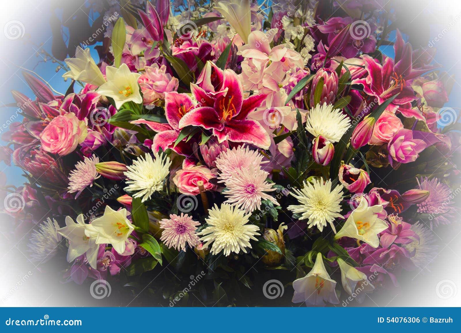 Festival van bloemen in Baku stad, Azerbeidzjan
