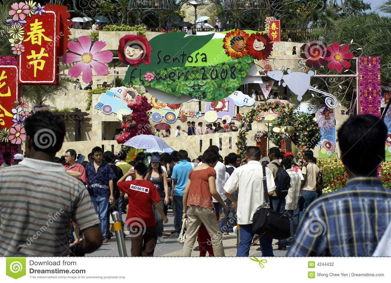 Festivalen 2008 blommar sentosa