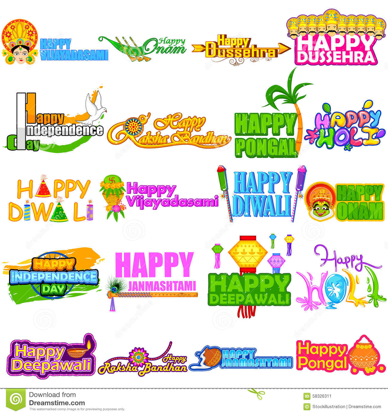 Festivals Of India Stock Vector Image Of Raavana