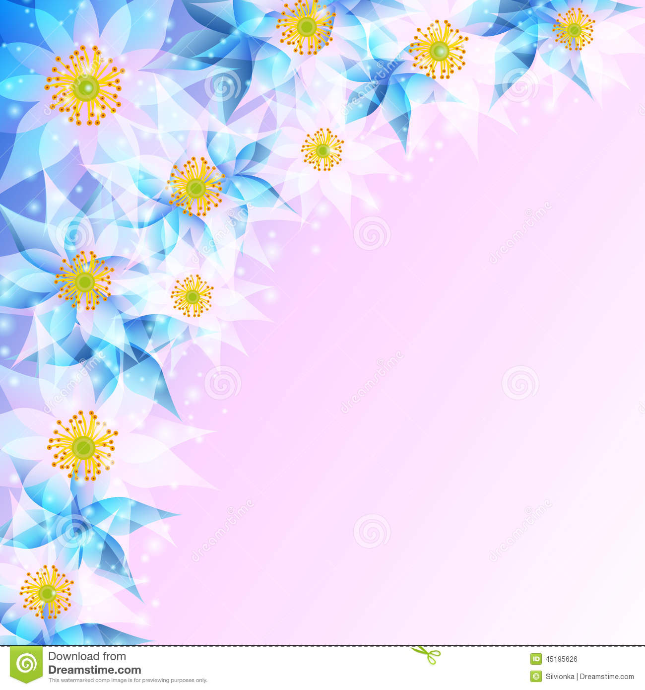 Festive Background With Abstract Flowers Stock Vector - Image: 45195626