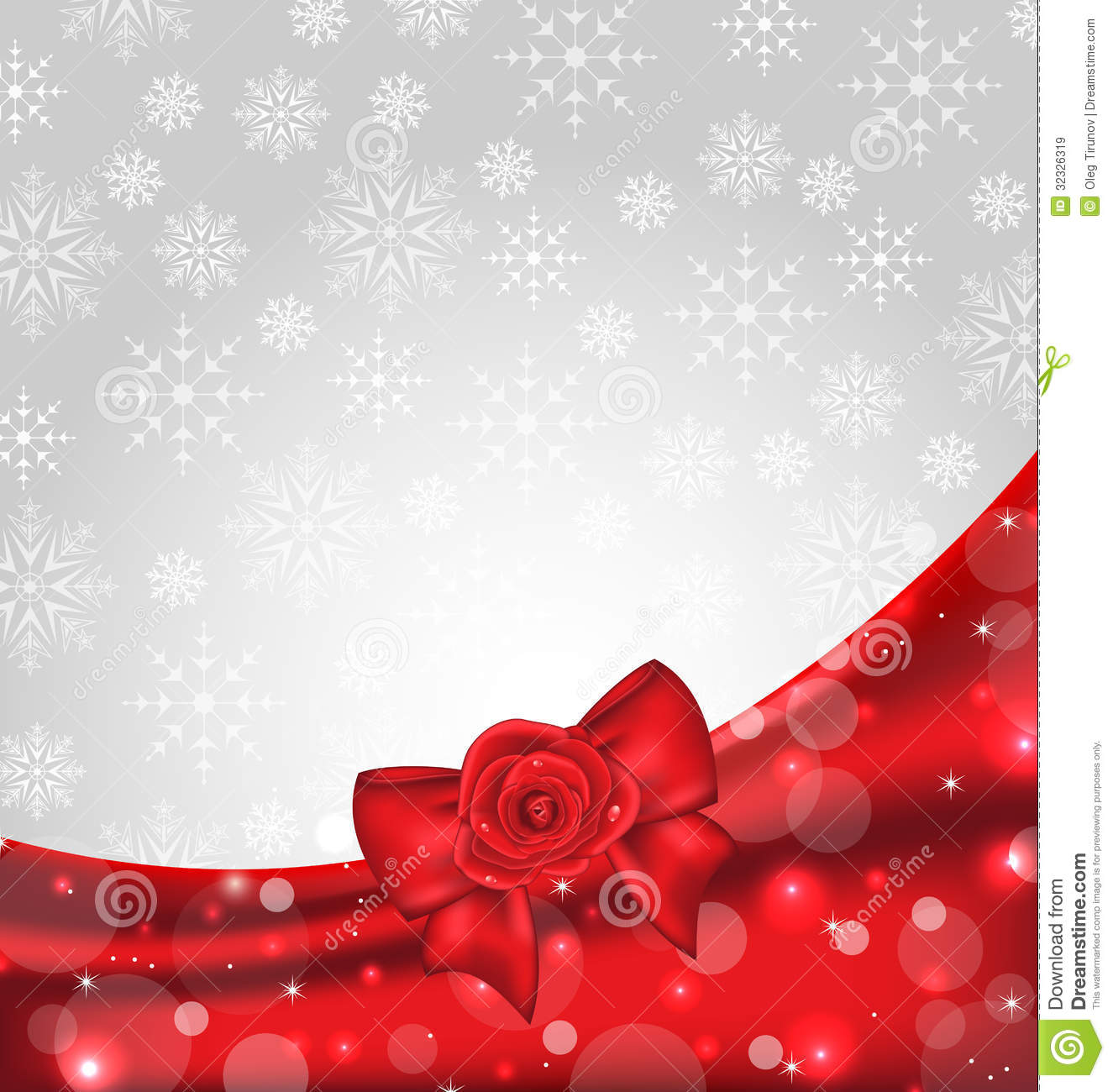 festive background with gift bow and rose royalty free