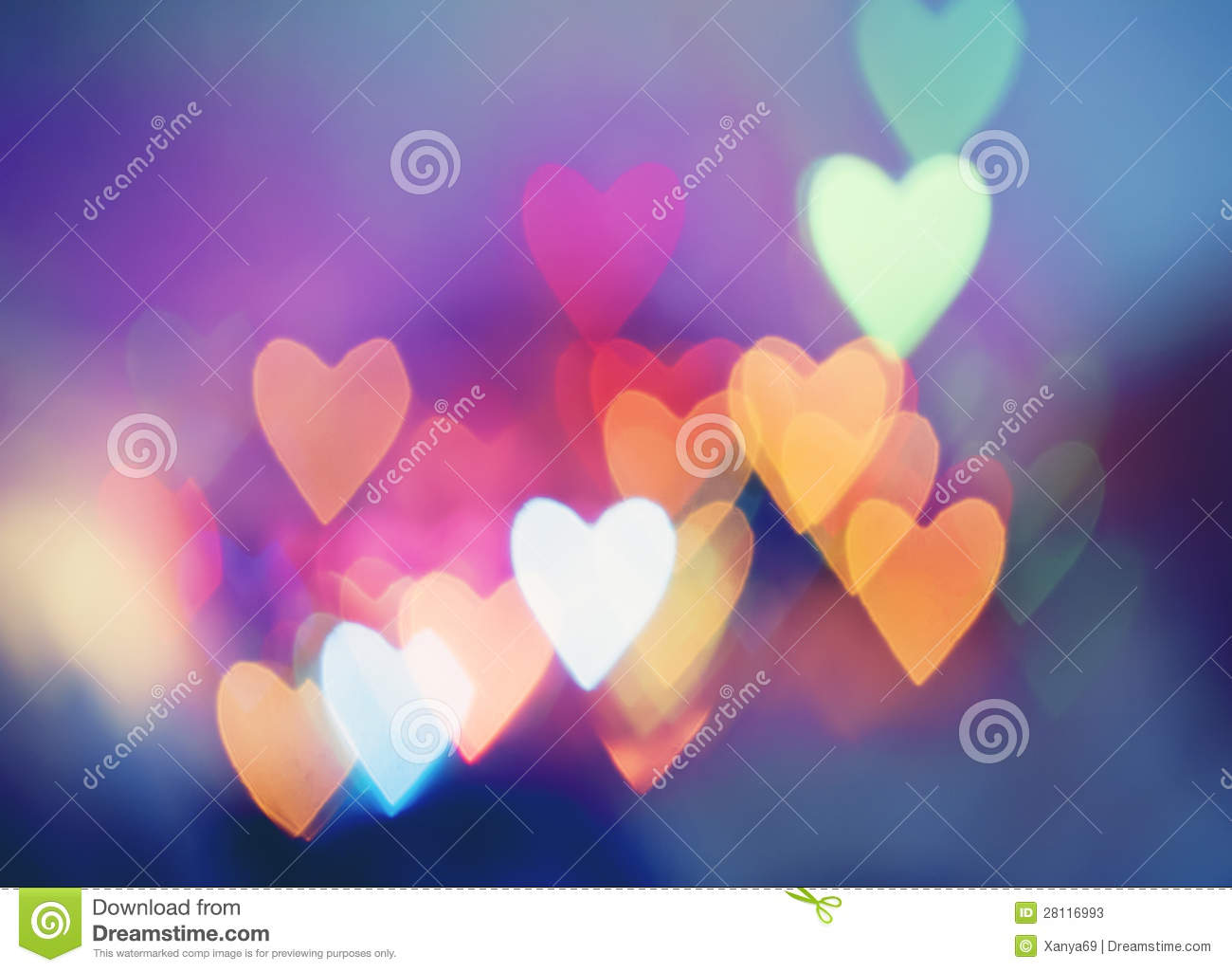 Bokeh Heart Shape Of Light Background Stock Footage Video: Festive Background With Heart Shaped Bokeh Stock Image