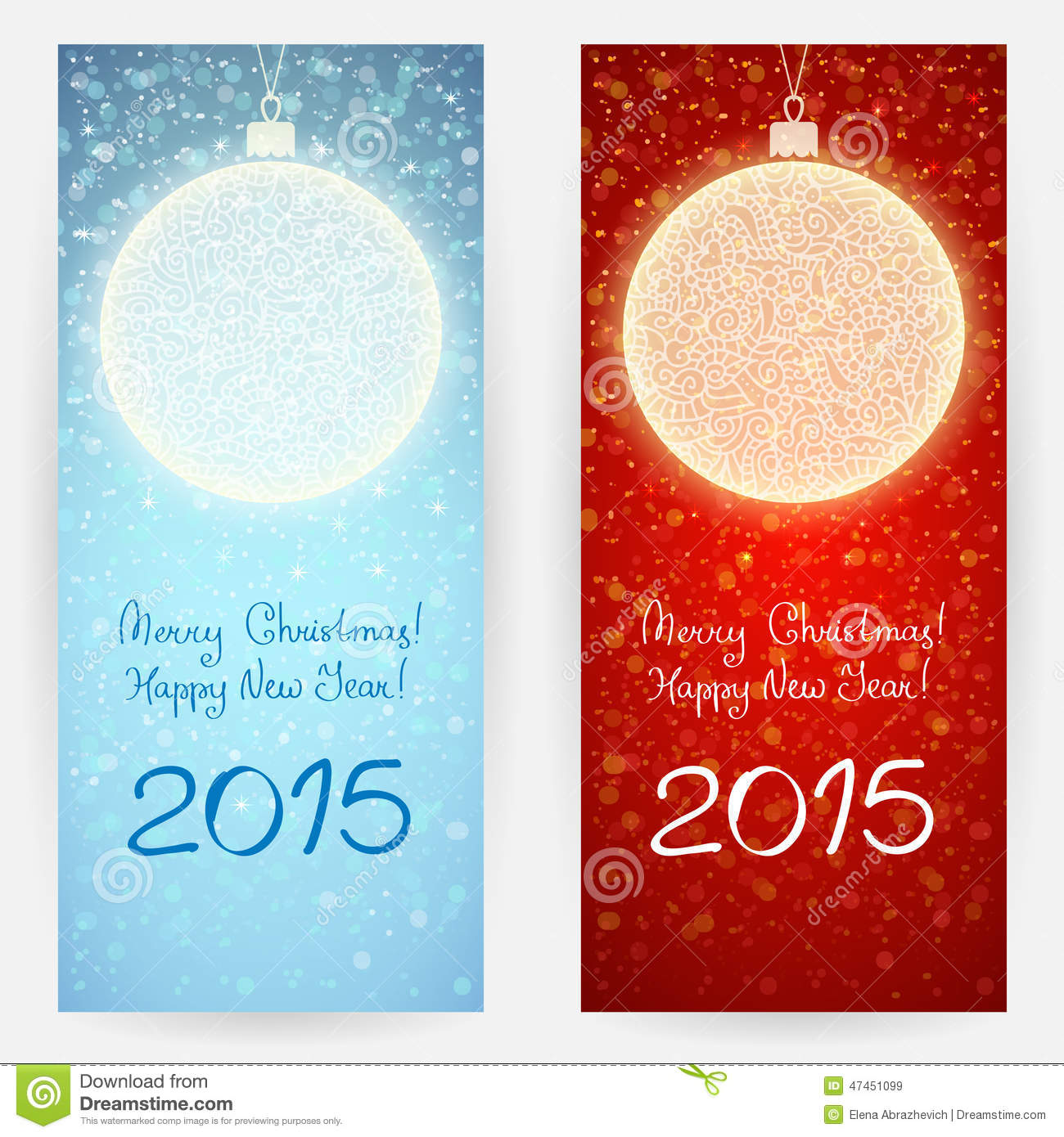 Festive Backgrounds With Christmas Balls Stock Vector Illustration