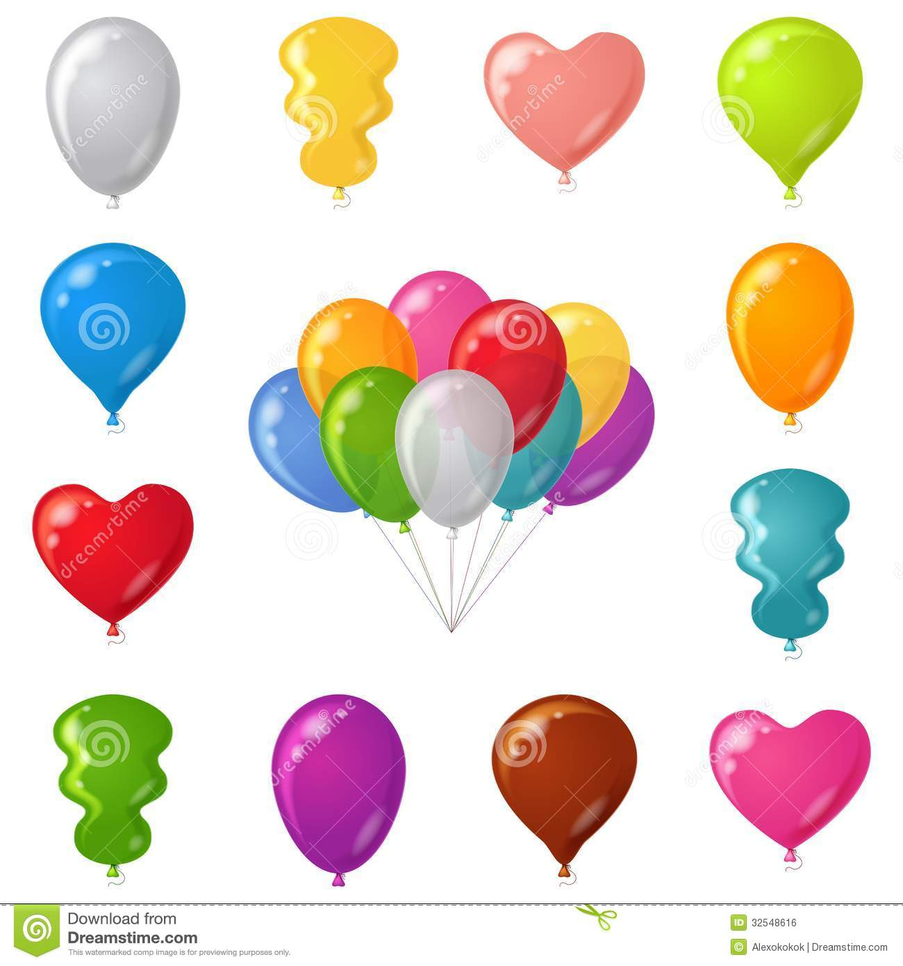 Festive balloons set royalty free stock image image - Globos con formas ...