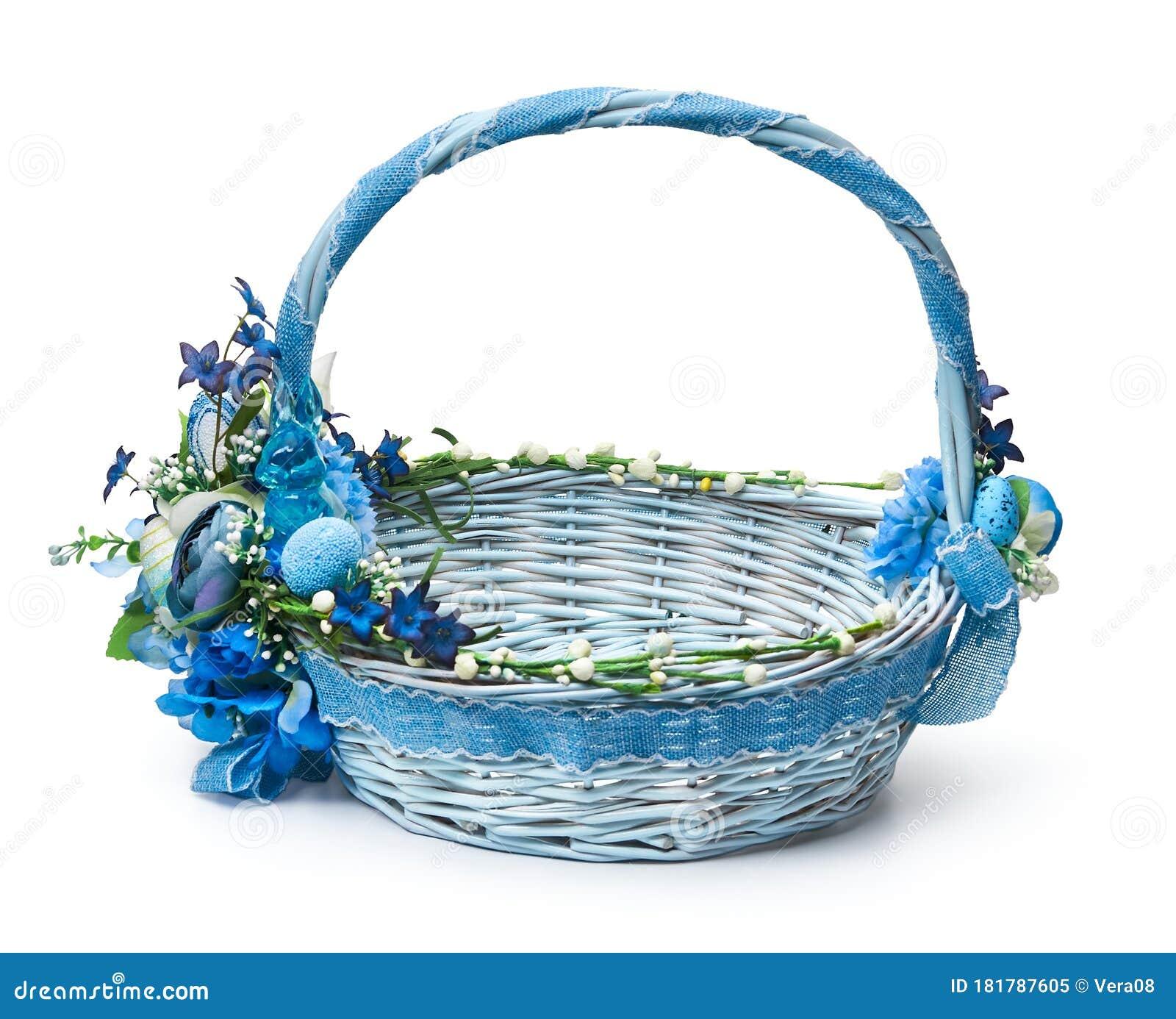 Festive Basket With A Flower Arrangement Stock Image Image Of Weaving Concept 181787605