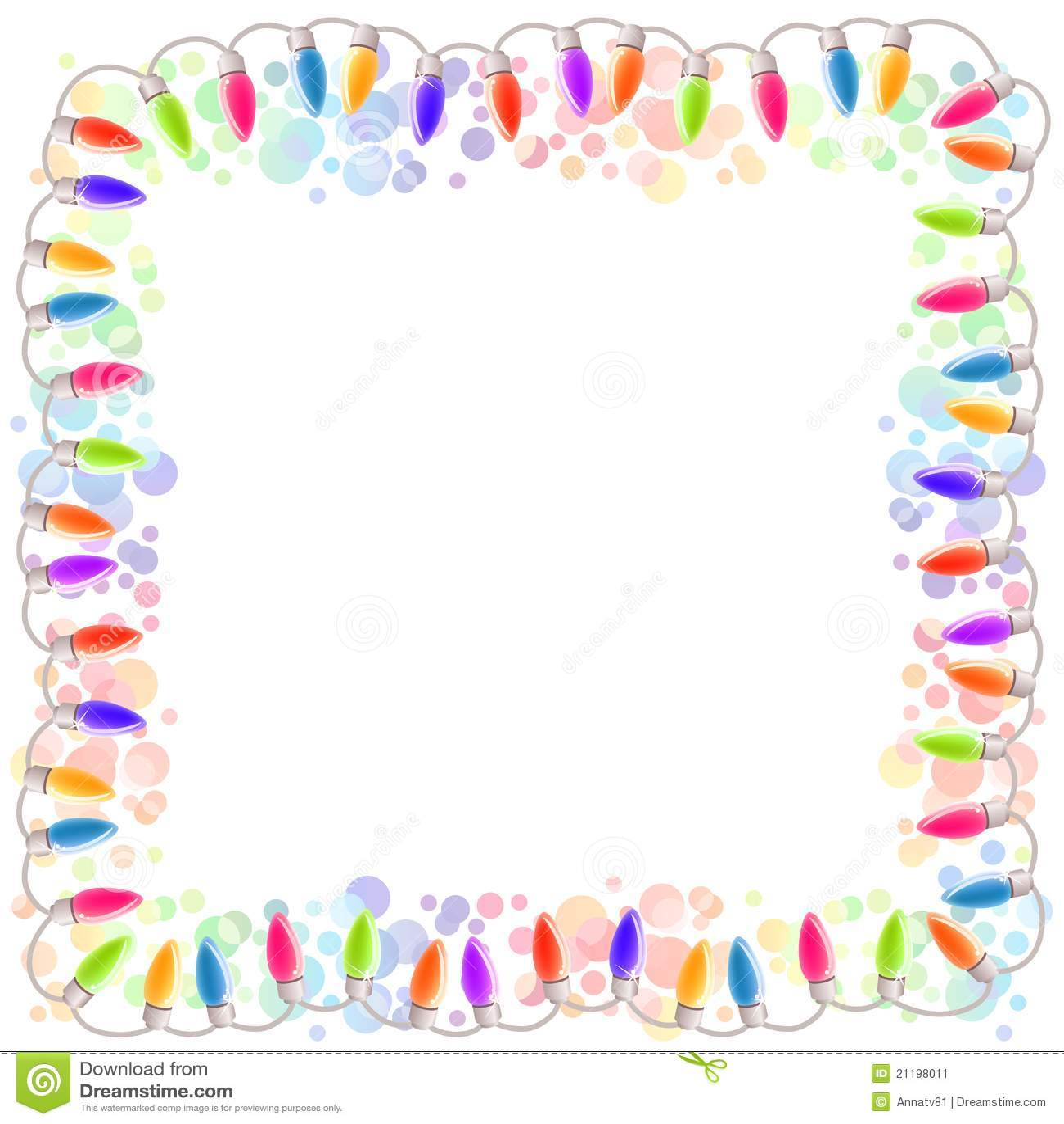 Festive blank frame with garland