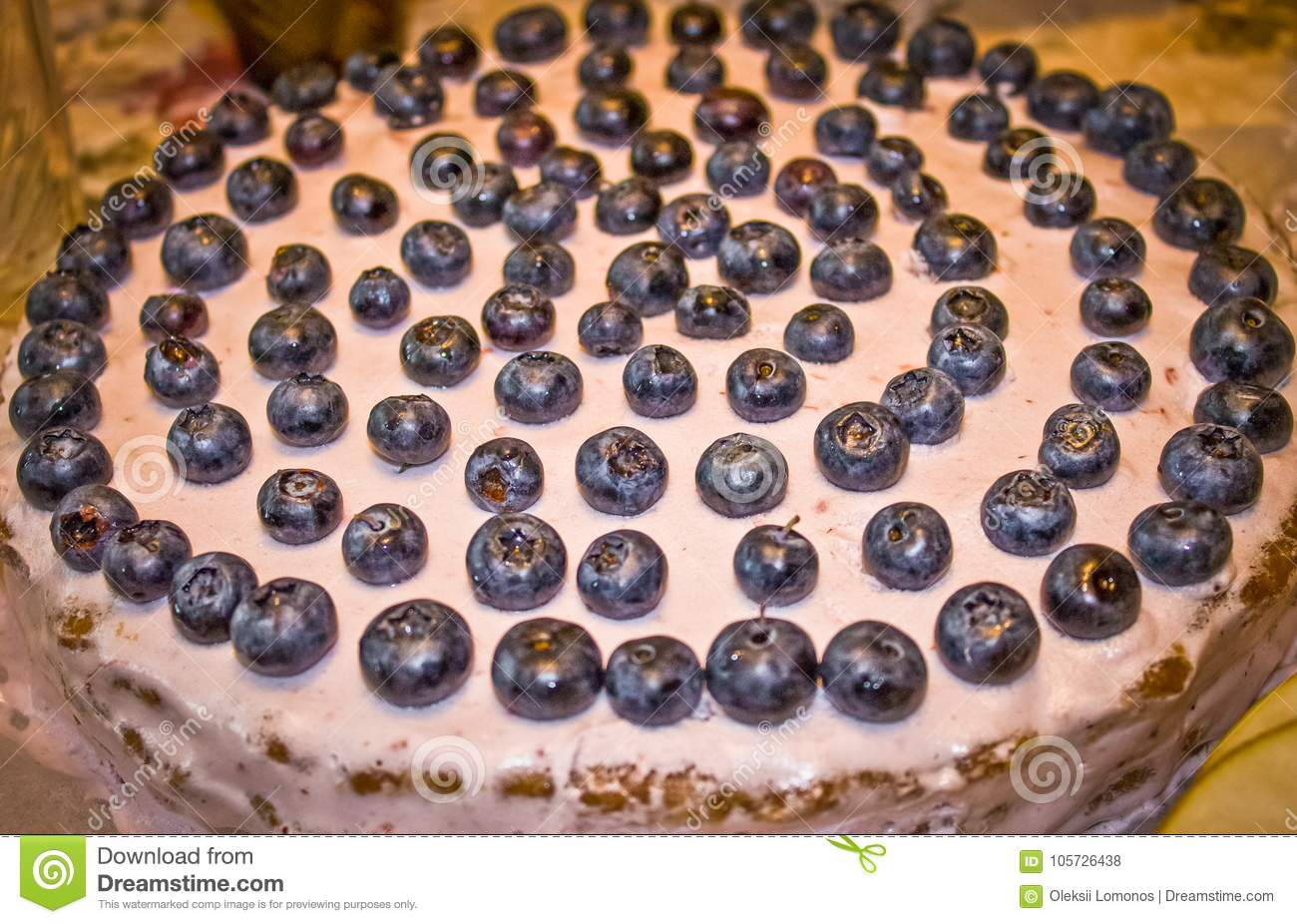 Cool Birthday Cake For Two Years With Blueberries Stock Photo Image Funny Birthday Cards Online Benoljebrpdamsfinfo