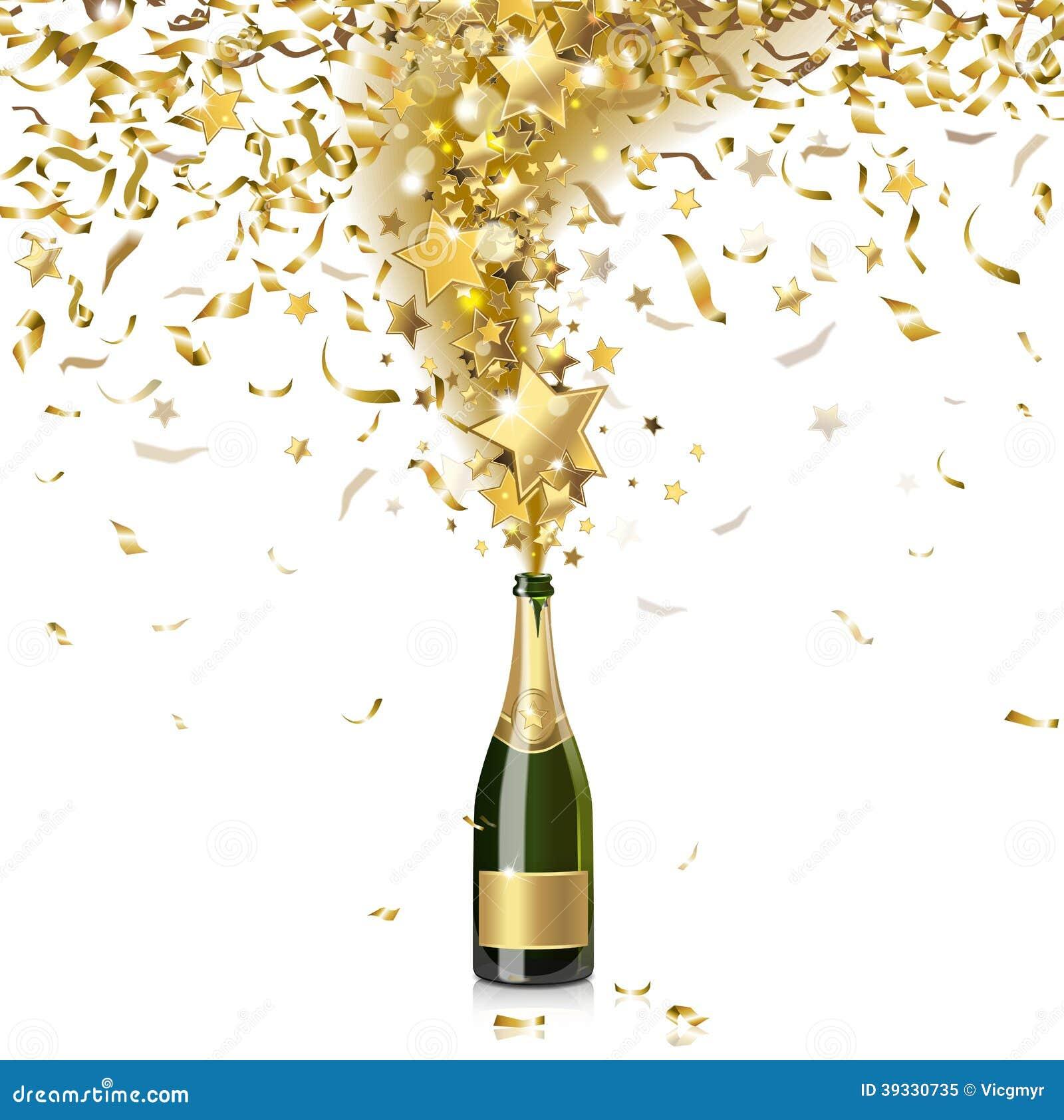 Festive Champagne Stock Vector - Image: 39330735